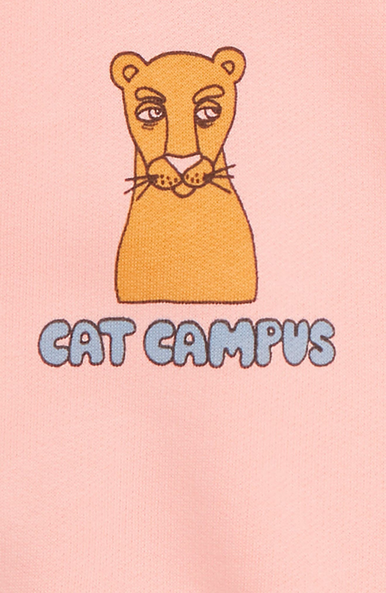 Cat Campus Organic Cotton Sweatshirt,                             Alternate thumbnail 2, color,                             PINK