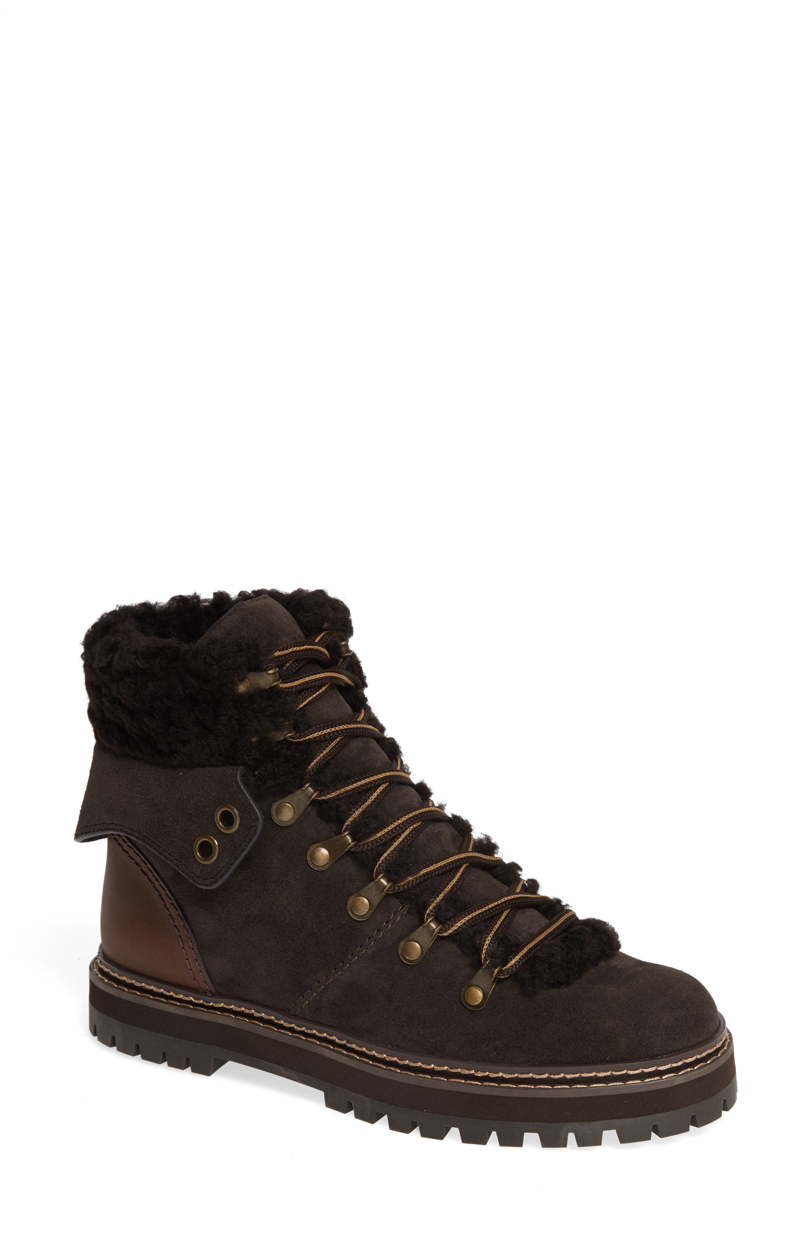 'Eileen' Genuine Shearling Boot,                             Main thumbnail 1, color,