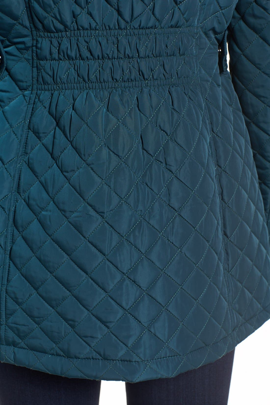 Hooded Quilted Jacket,                             Alternate thumbnail 33, color,