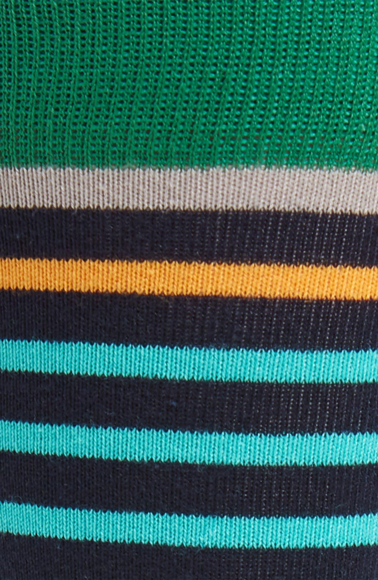 Mojo Striped Socks,                             Alternate thumbnail 2, color,                             GREEN