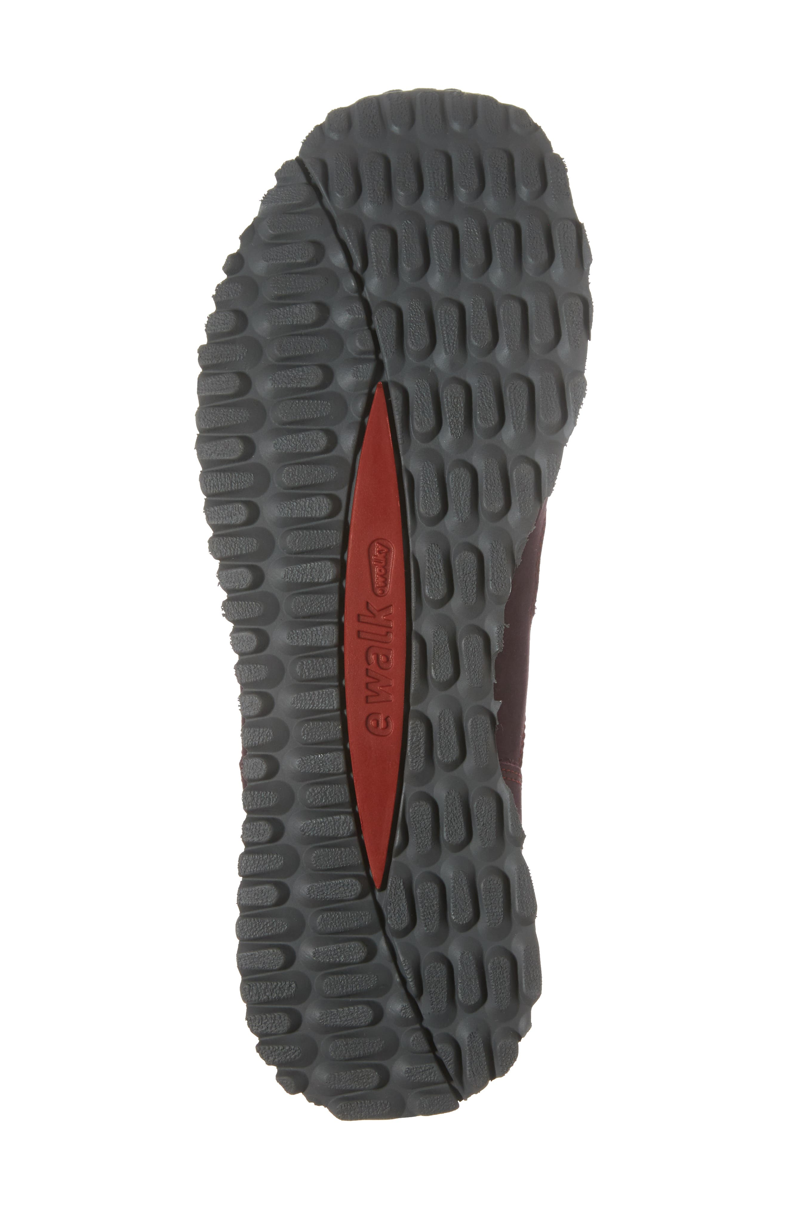 E-Walk Sneaker,                             Alternate thumbnail 6, color,                             BORDO LEATHER