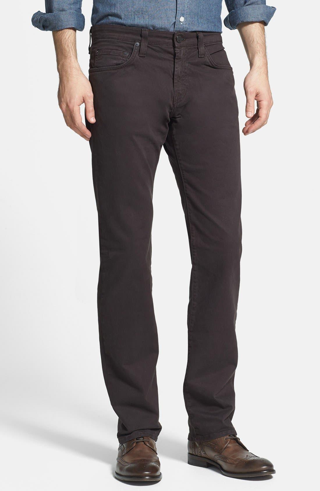 'Kane' Slim Fit Cotton Twill Pants,                             Main thumbnail 9, color,