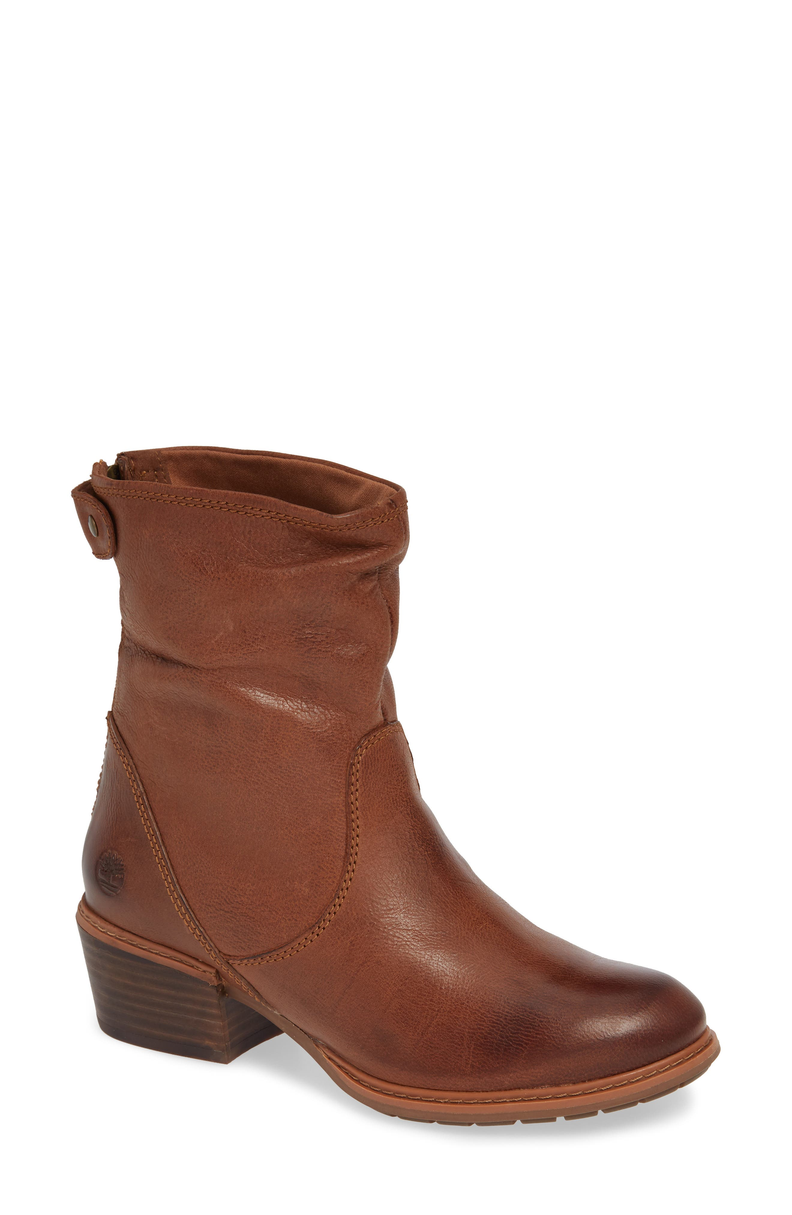 Sutherlin Bay Water Resistant Bootie,                             Main thumbnail 1, color,                             ARGAN OIL LEATHER