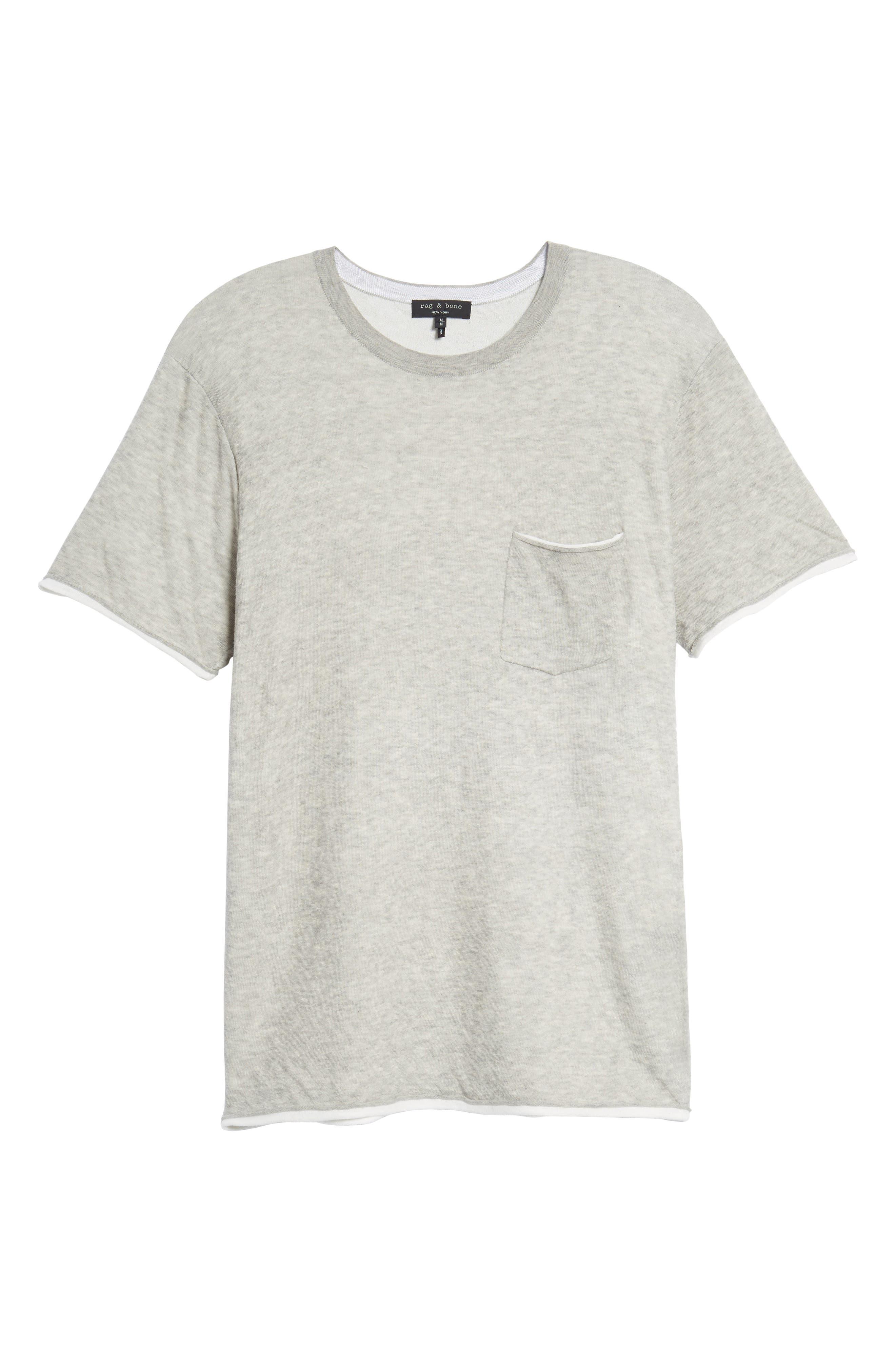 Tripp Cotton & Wool T-Shirt,                             Alternate thumbnail 6, color,                             068
