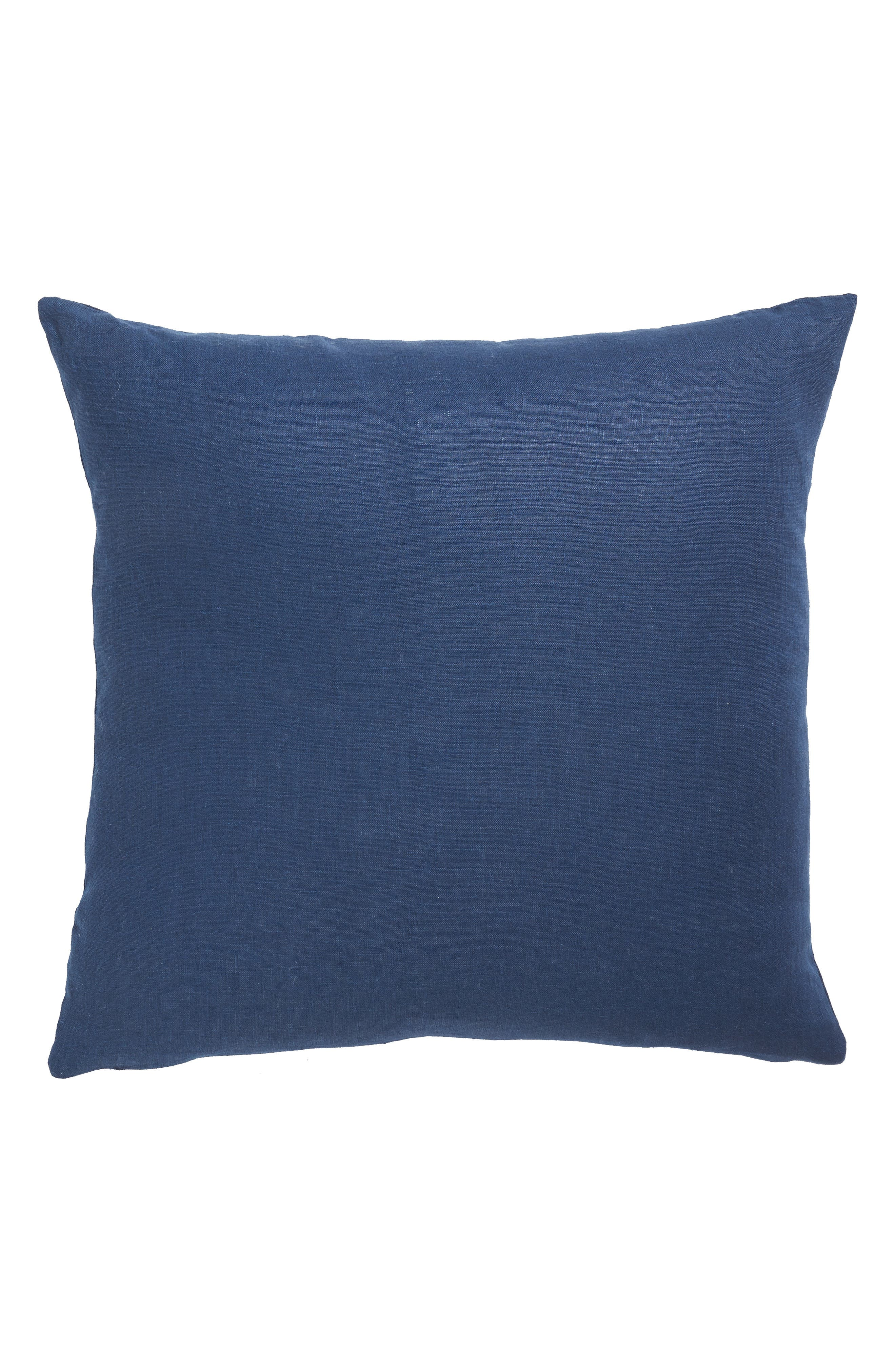 Corana Linen Pillow,                             Alternate thumbnail 2, color,                             NAVY/WHITE