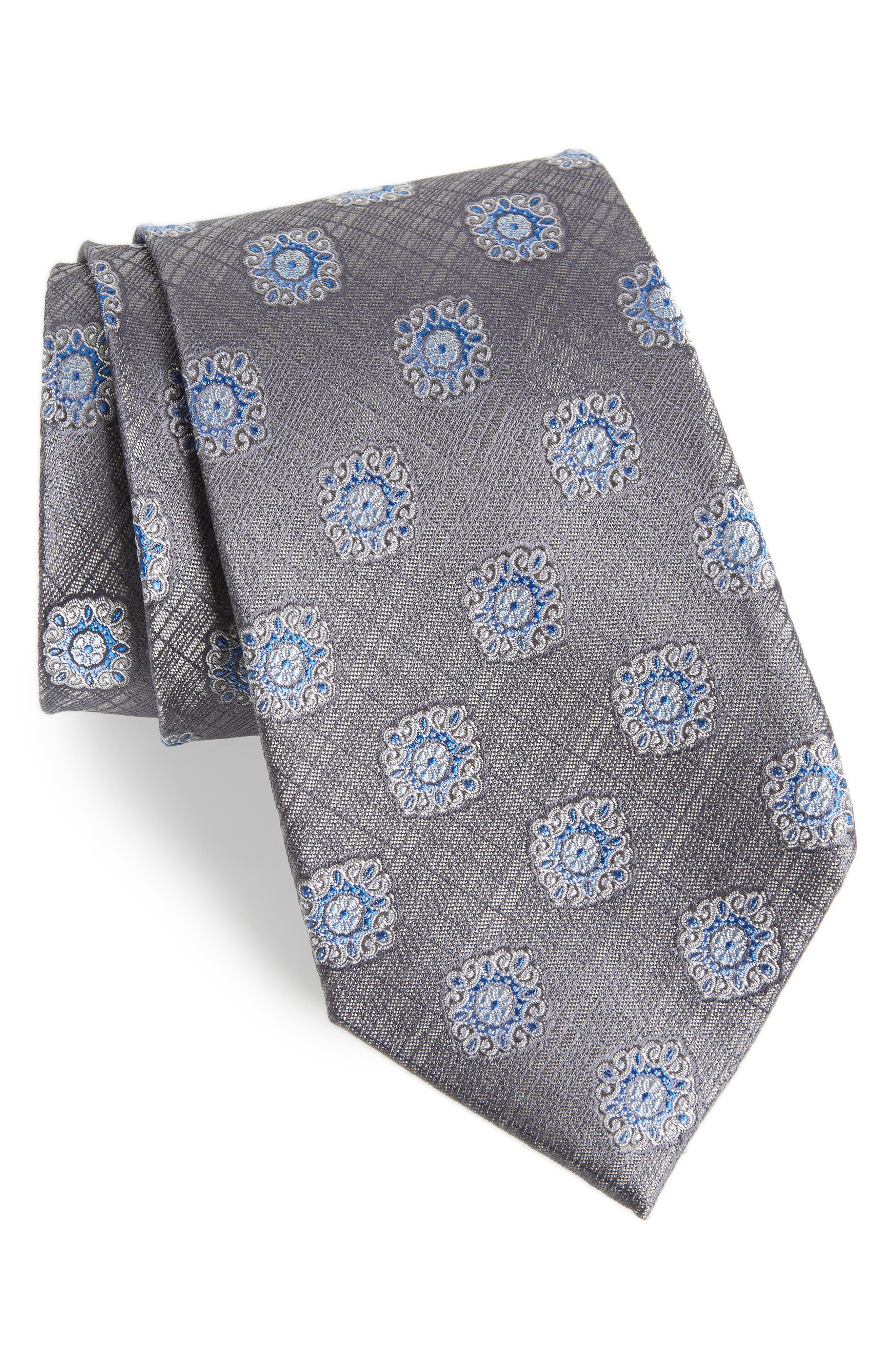 Armas Medallion Silk Tie,                             Main thumbnail 1, color,                             020