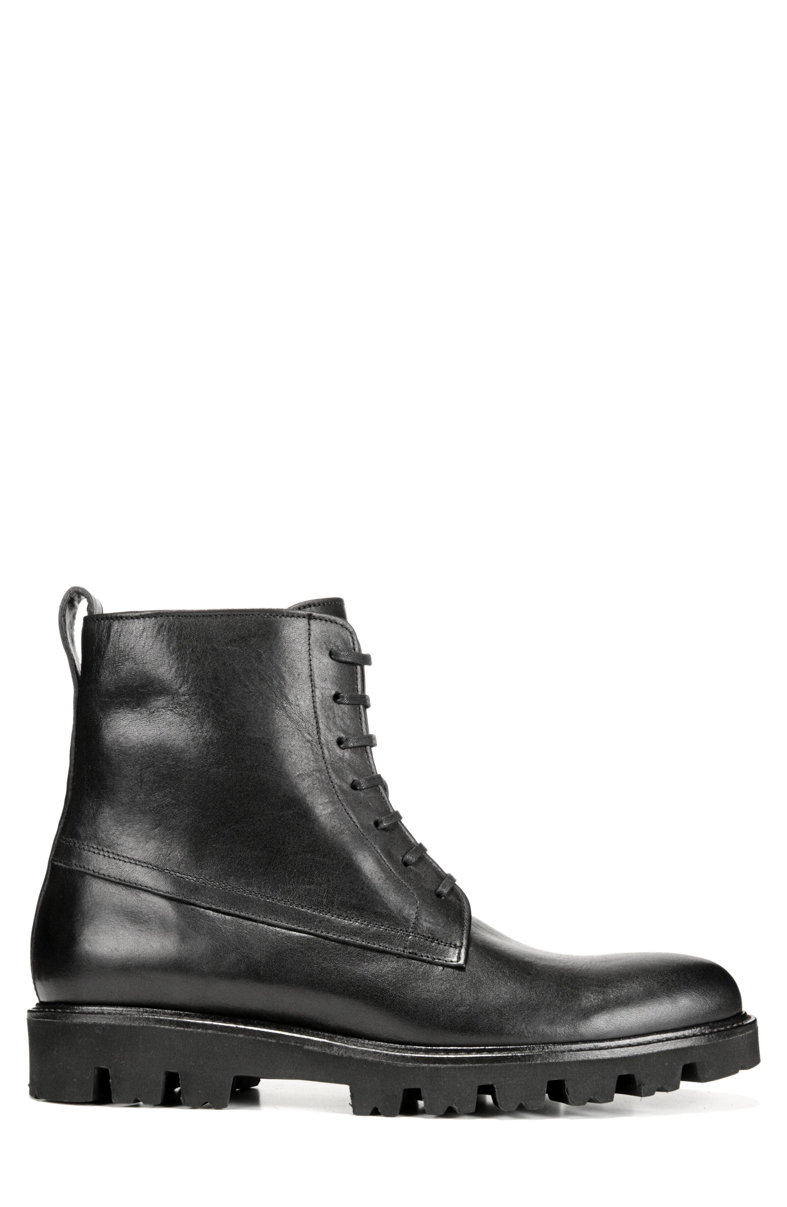 Commander Plain Toe Boot,                             Alternate thumbnail 3, color,                             BLACK