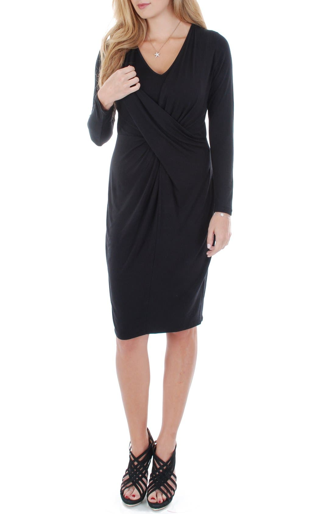 'Sloan' Maternity/Nursing Dress,                             Alternate thumbnail 2, color,                             001