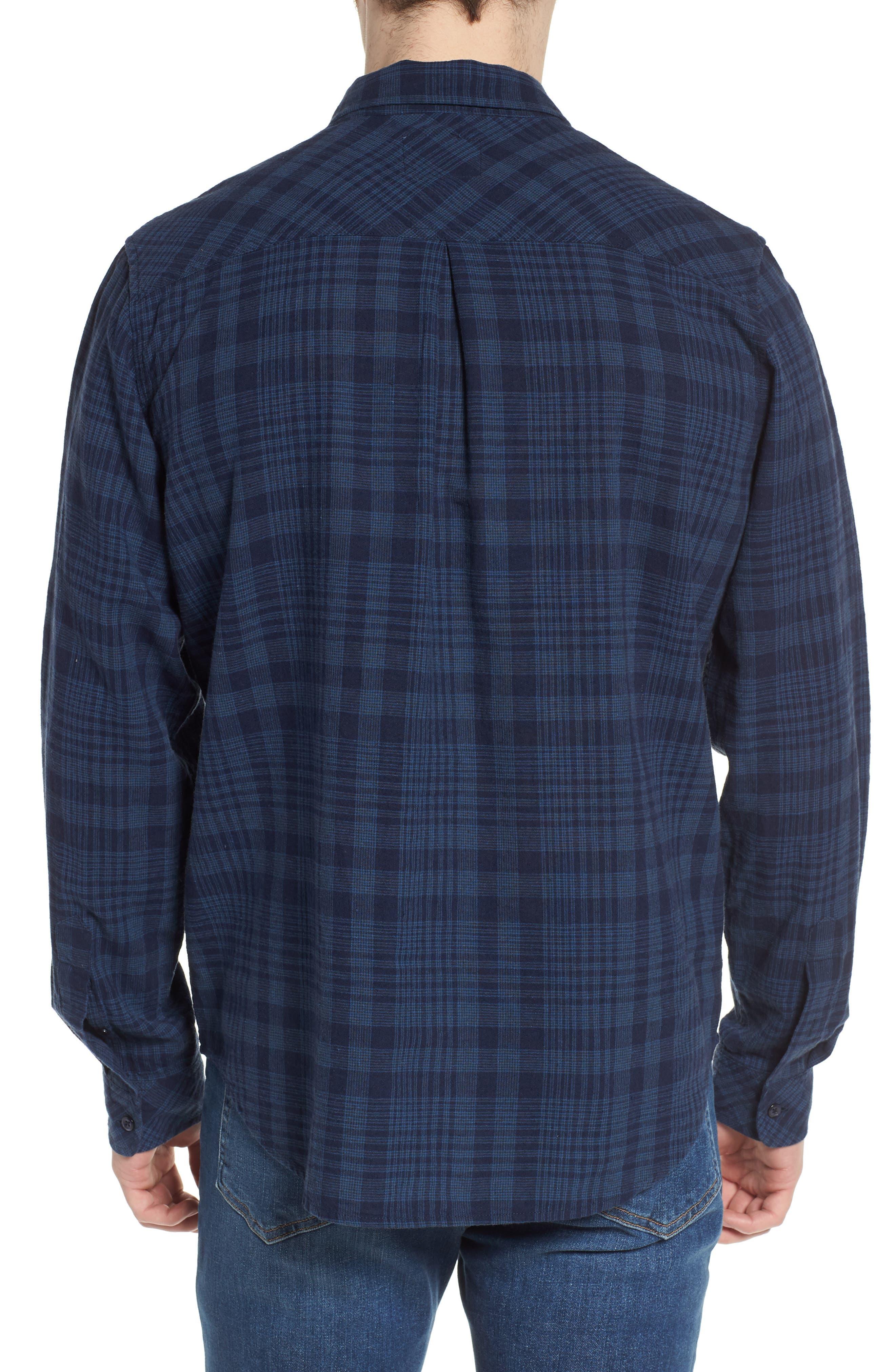 Connor Plaid Linen Blend Sport Shirt,                             Alternate thumbnail 2, color,                             497