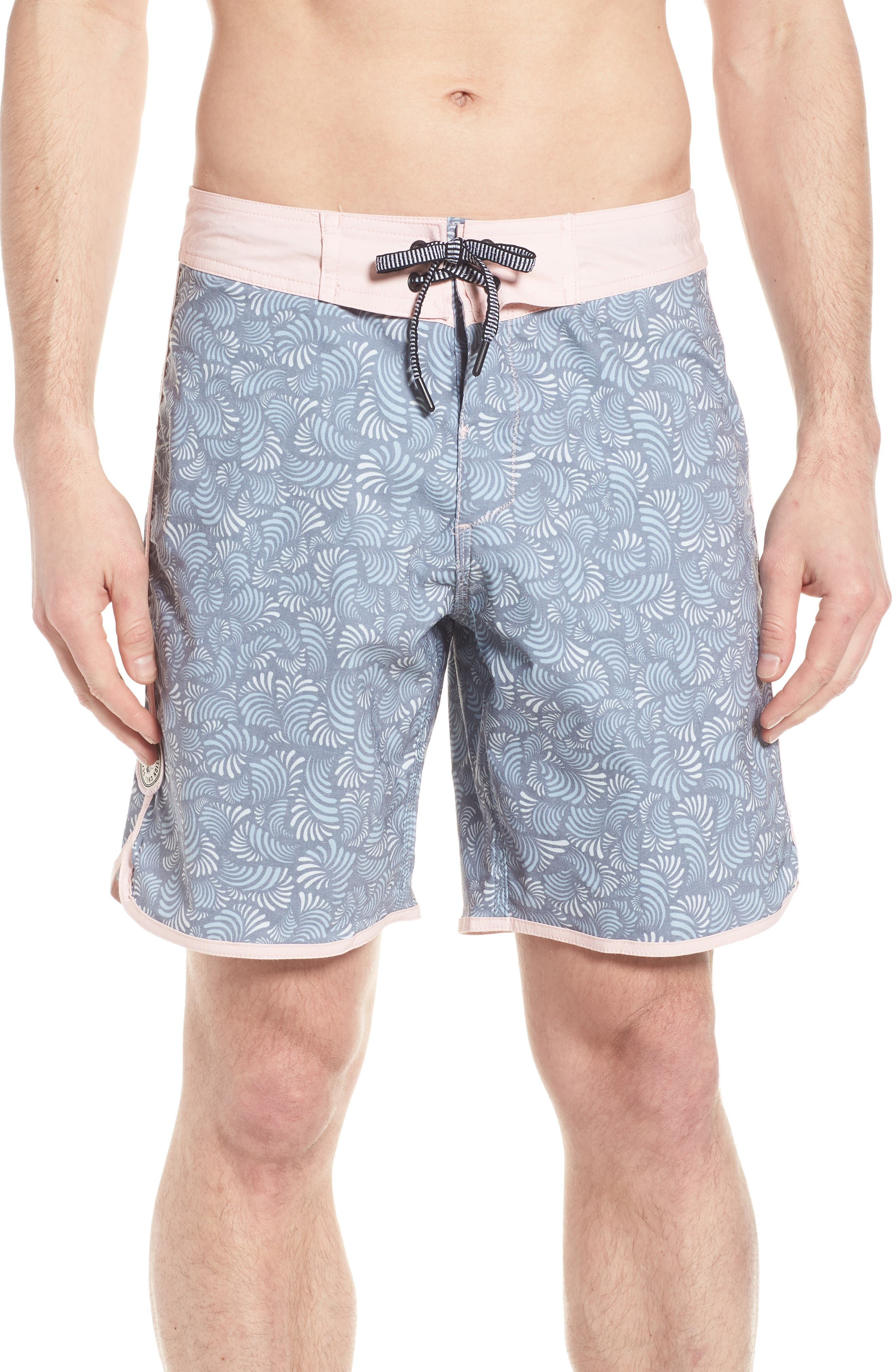 Seeker Board Shorts,                         Main,                         color, LIGHT PINK/ BLUE