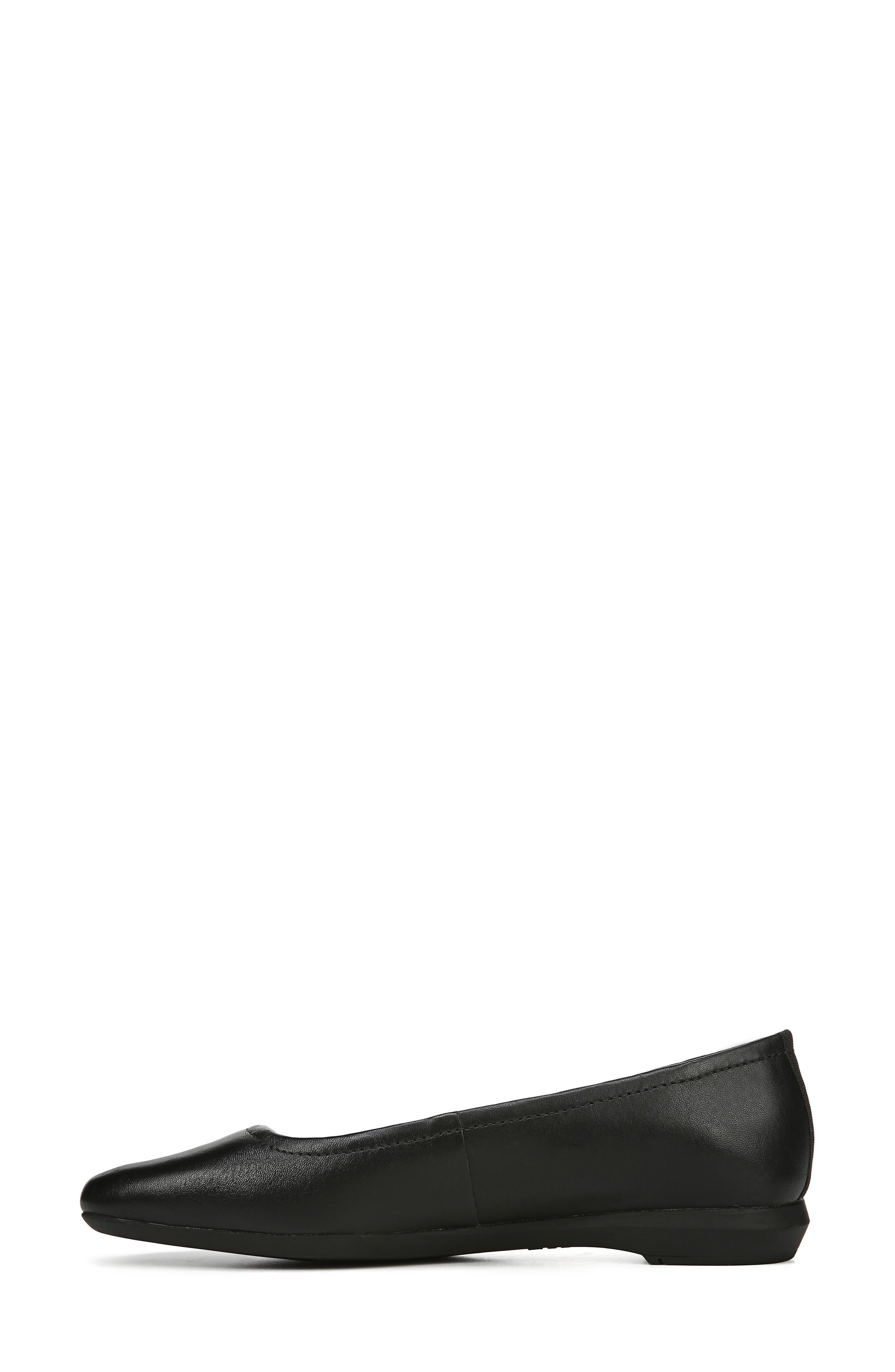 NATURALIZER,                             Alya Flat,                             Alternate thumbnail 8, color,                             BLACK LEATHER