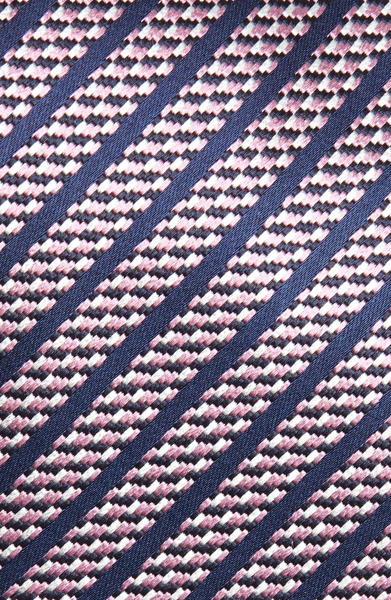 Stripe Silk Tie,                             Alternate thumbnail 2, color,                             PINK
