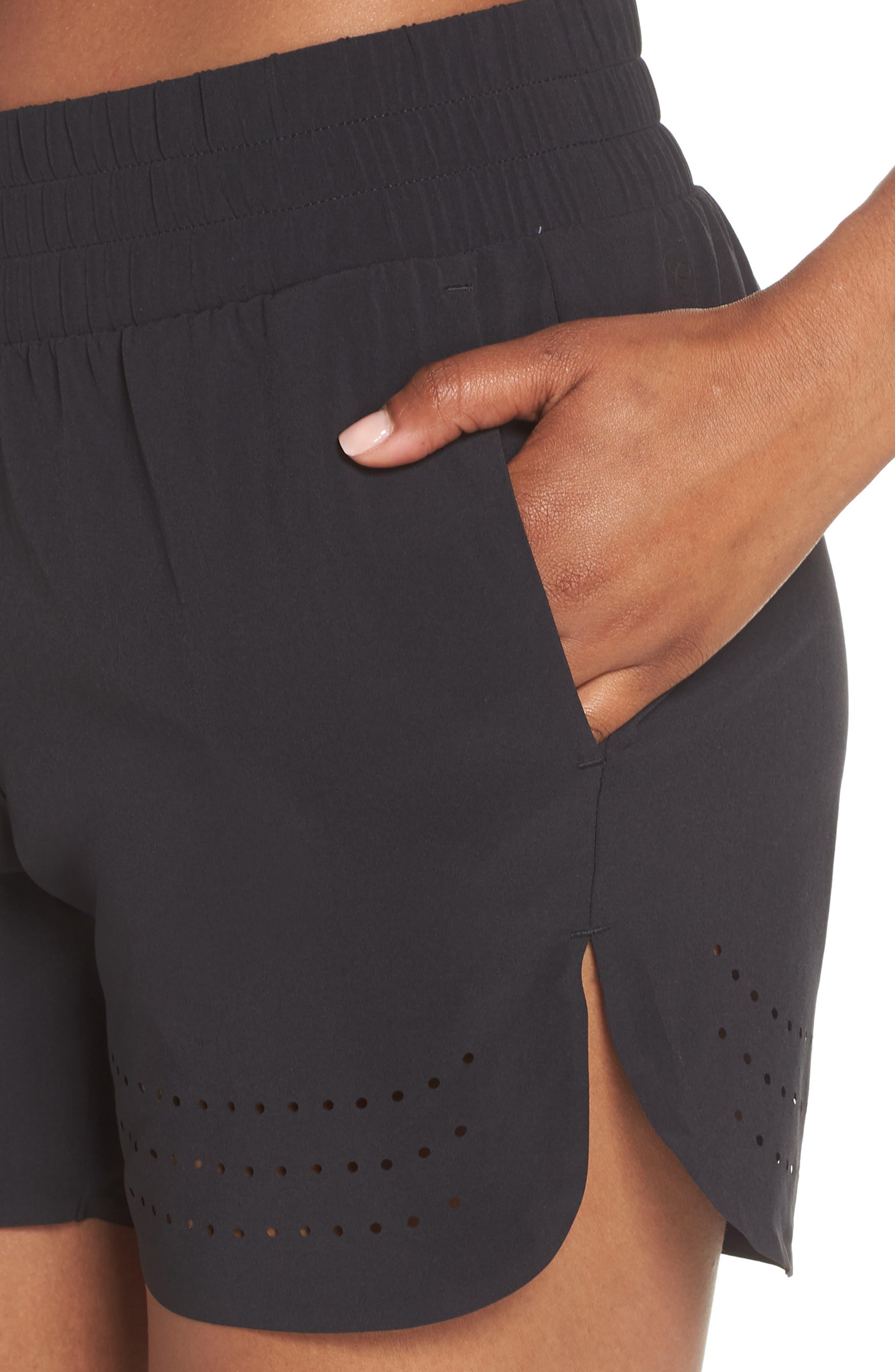 Hoop Shorts,                             Alternate thumbnail 4, color,                             BLACK