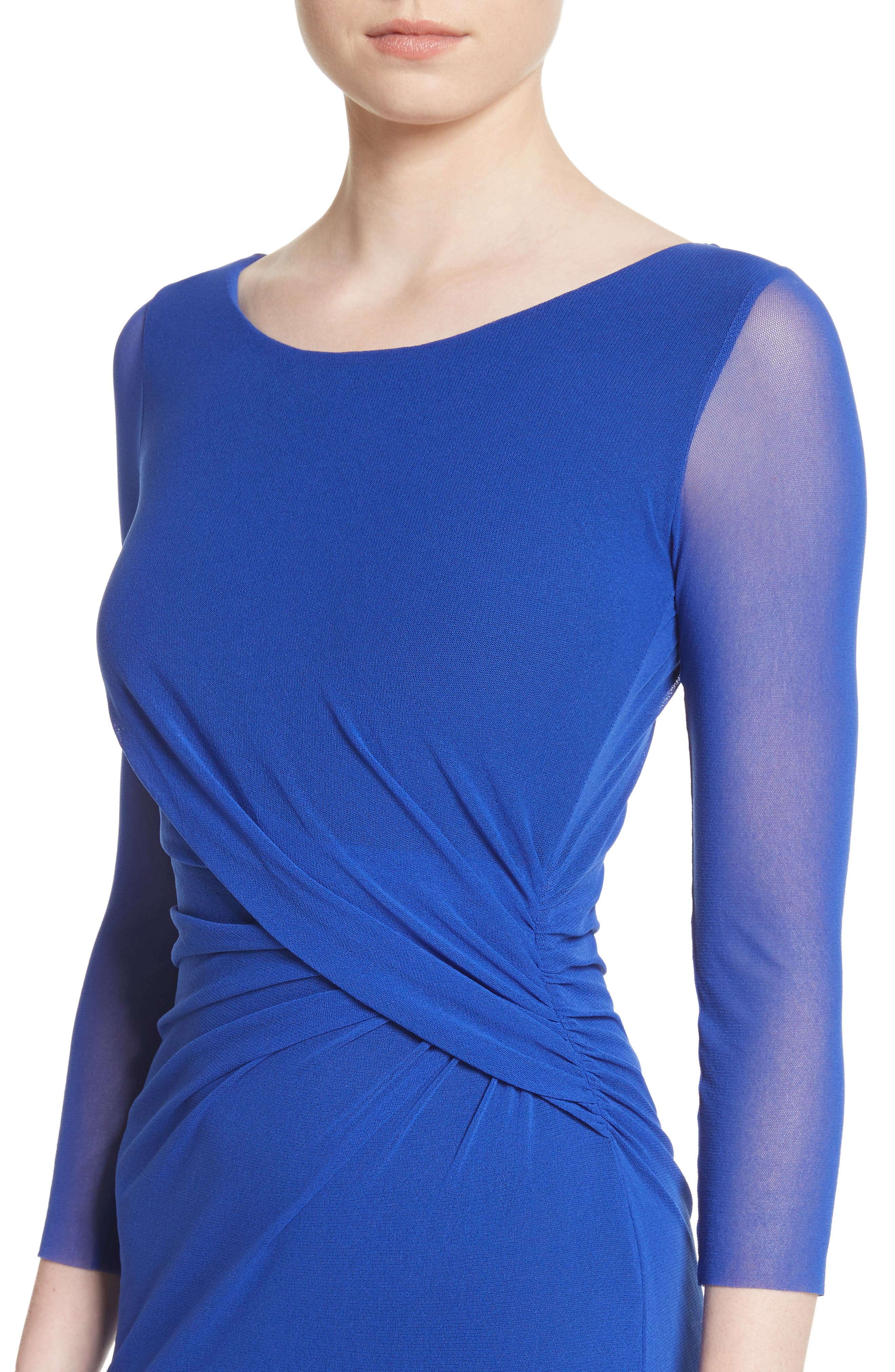 Ruched Tulle Dress,                             Alternate thumbnail 4, color,                             433