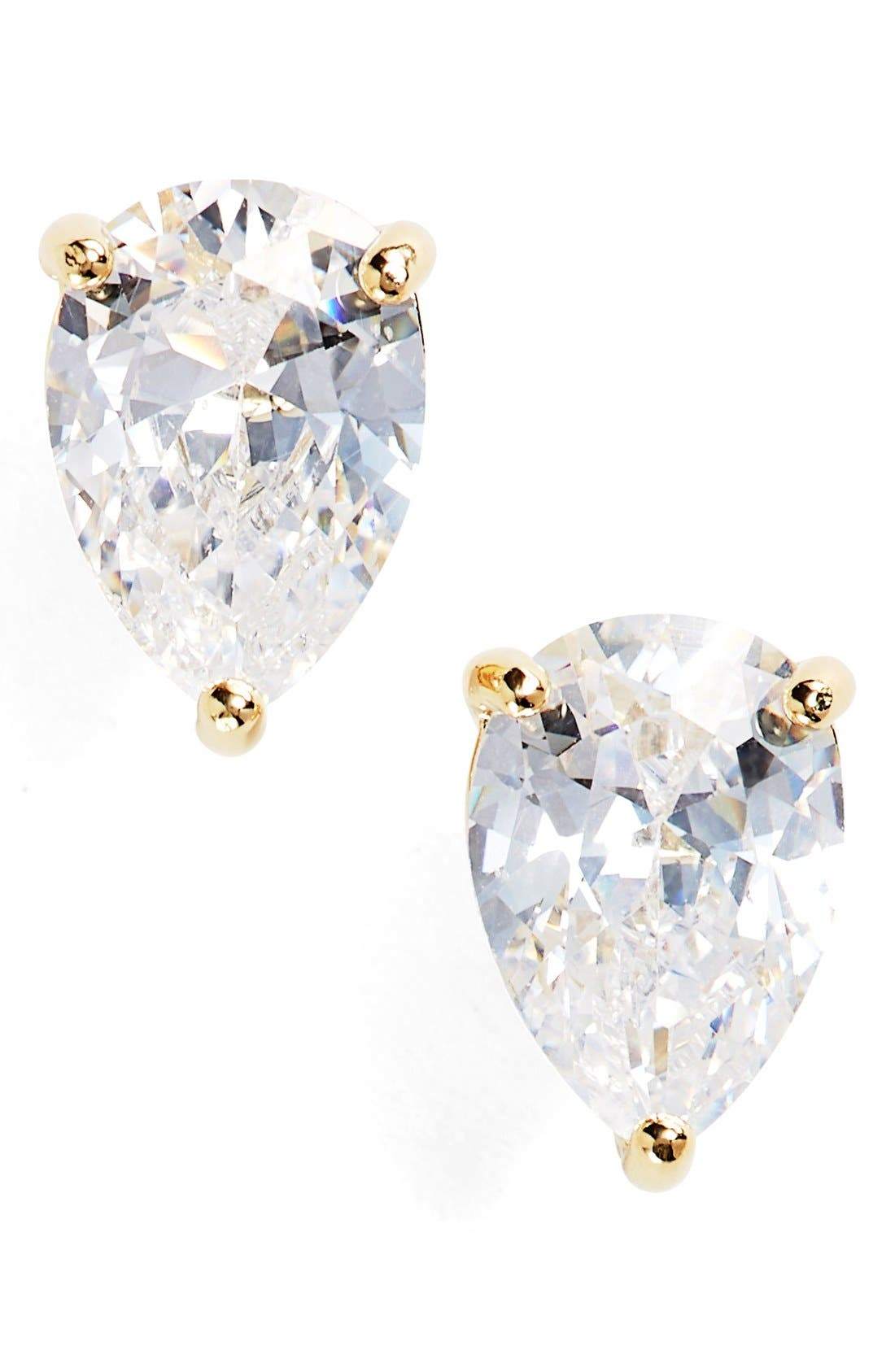 'shine on' crystal stud earrings,                             Main thumbnail 1, color,