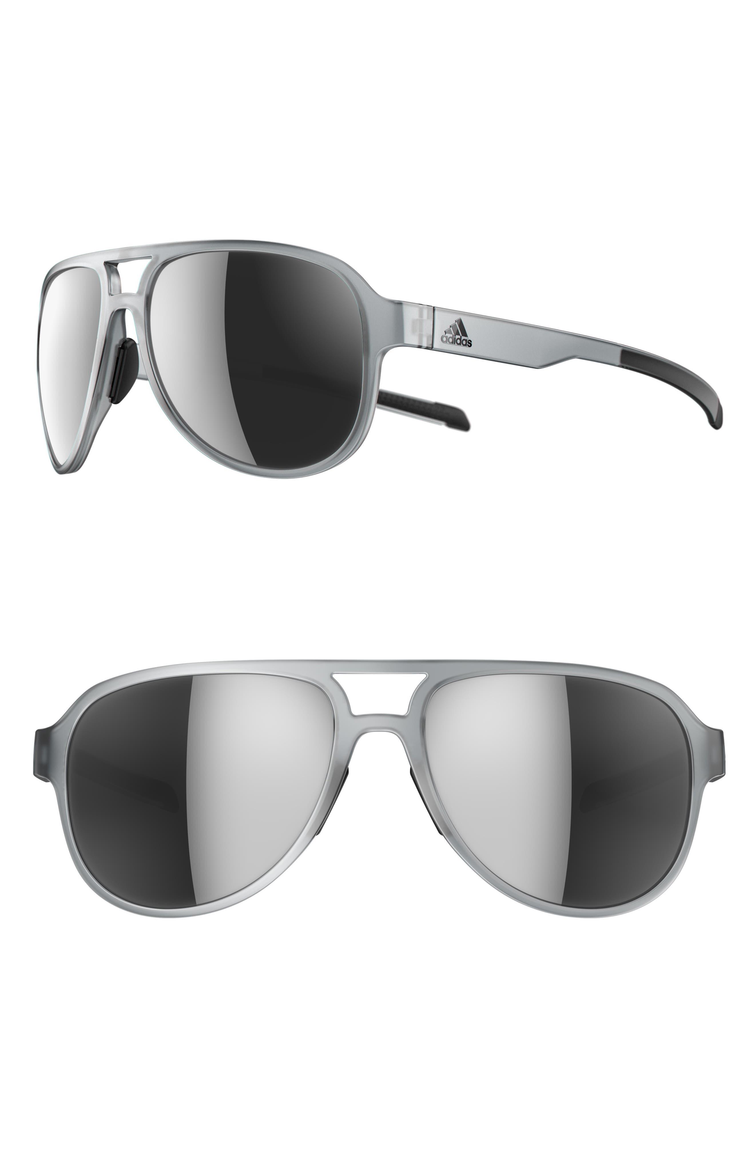 Pacyr 58mm Mirrored Sunglasses,                         Main,                         color, CRYSTAL GREY/ CHROME