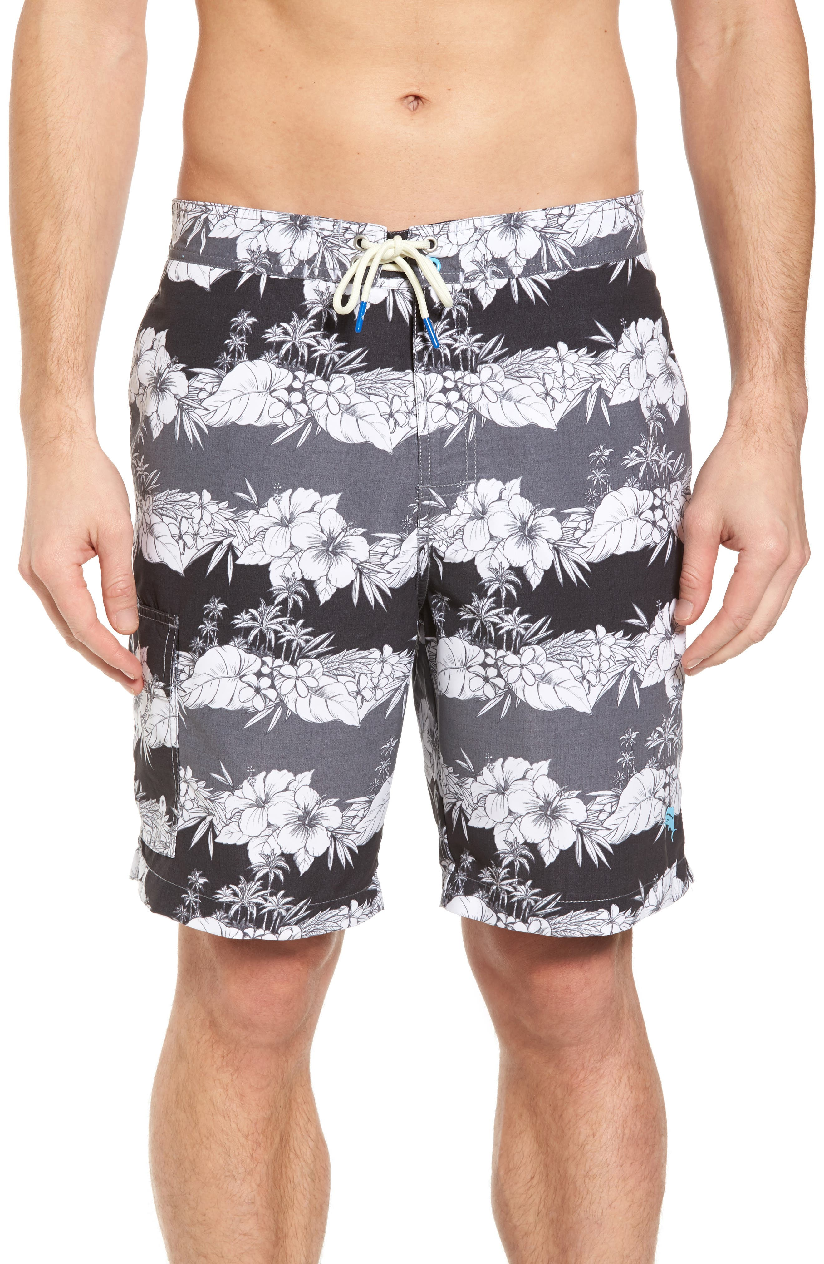 Baja Sky Vines Swim Trunks,                             Main thumbnail 1, color,                             001