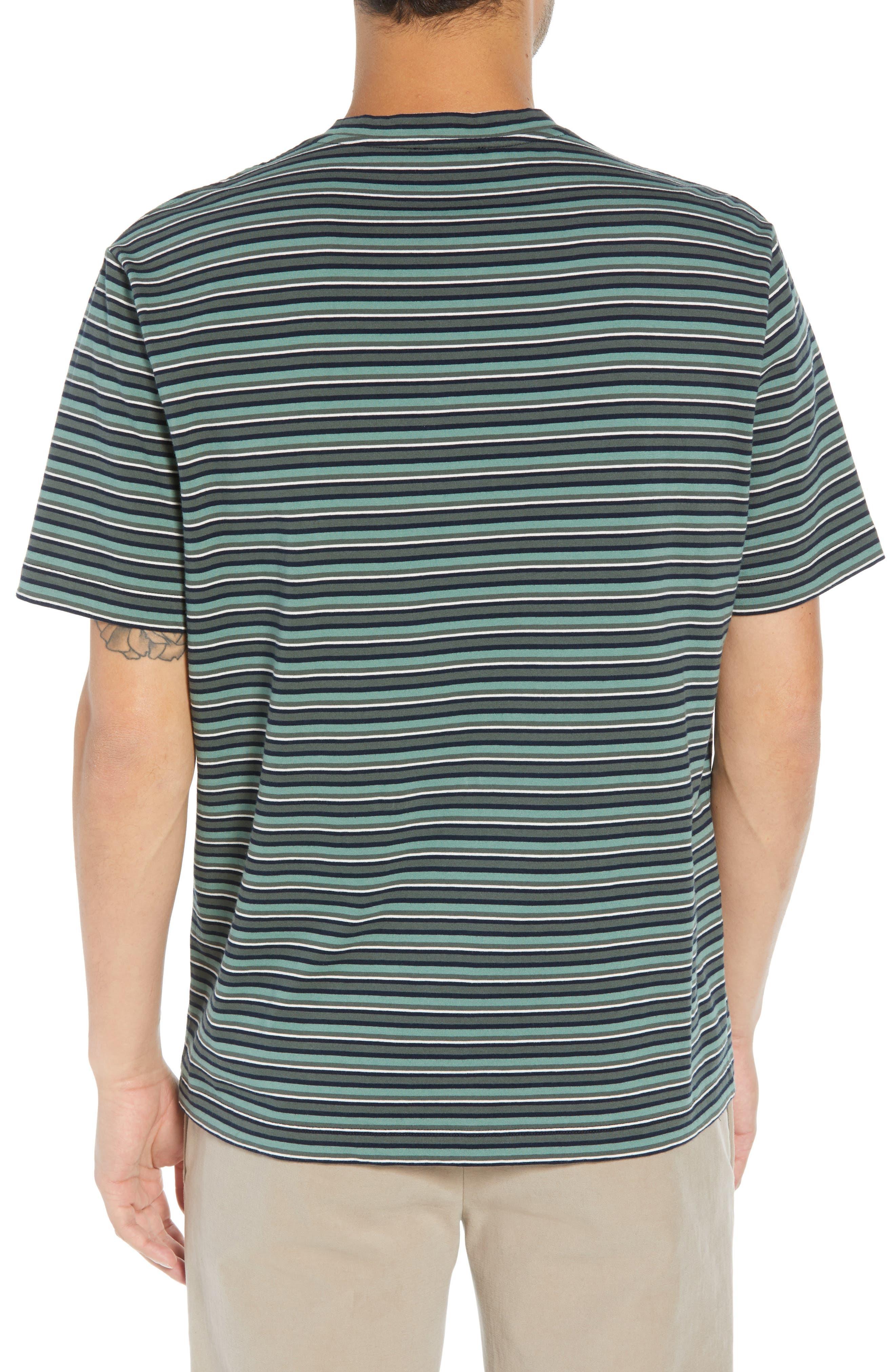 Regular Fit Multistripe Pocket T-Shirt,                             Alternate thumbnail 2, color,                             URBAN GREEN/ SPEARMINT
