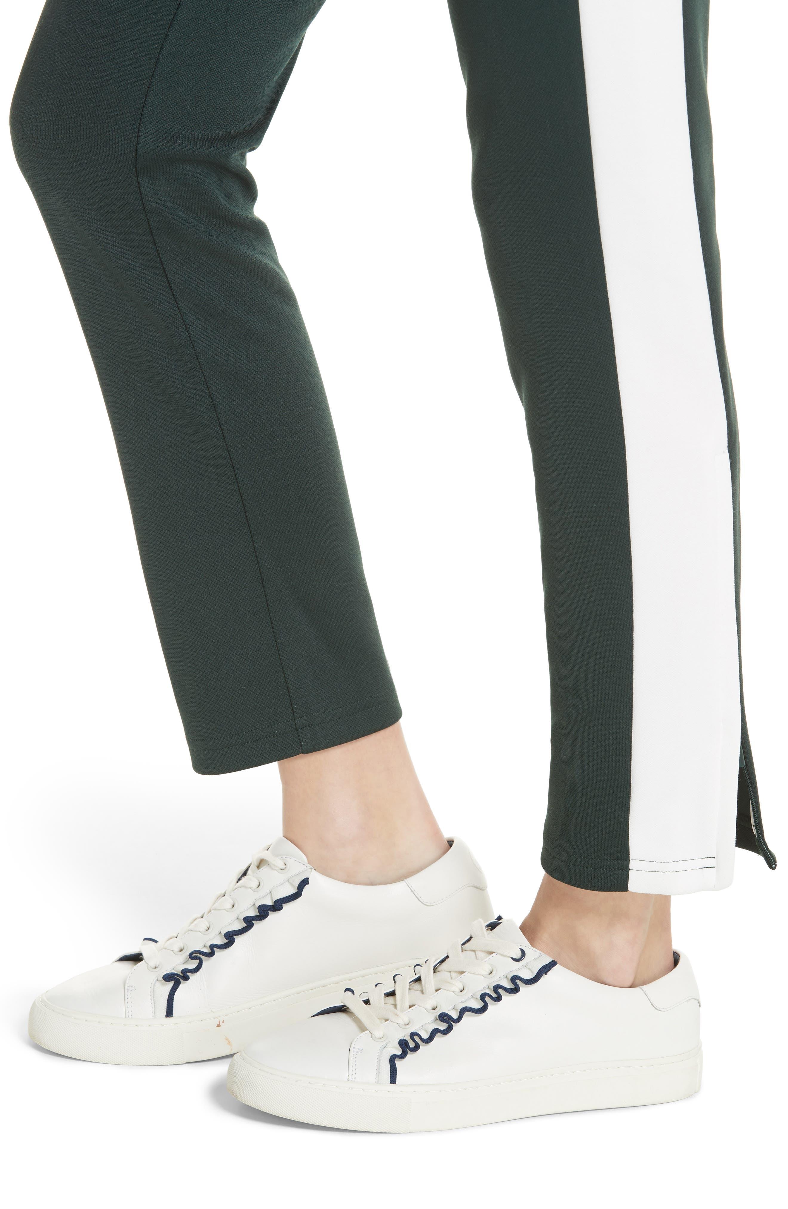 Colorblock Track Pants,                             Alternate thumbnail 4, color,                             CONIFER