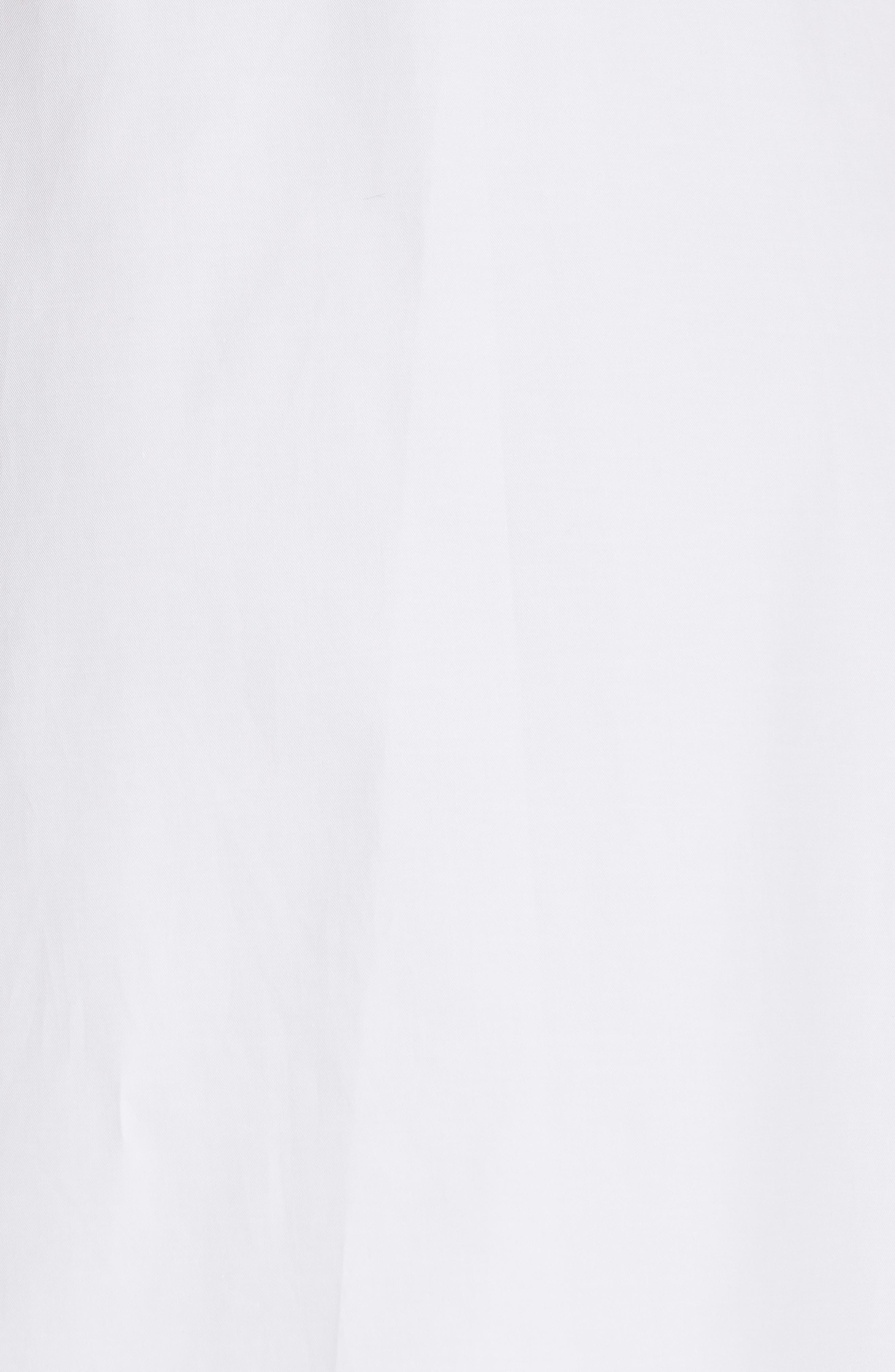 ruffle cotton poplin dress,                             Alternate thumbnail 6, color,                             107
