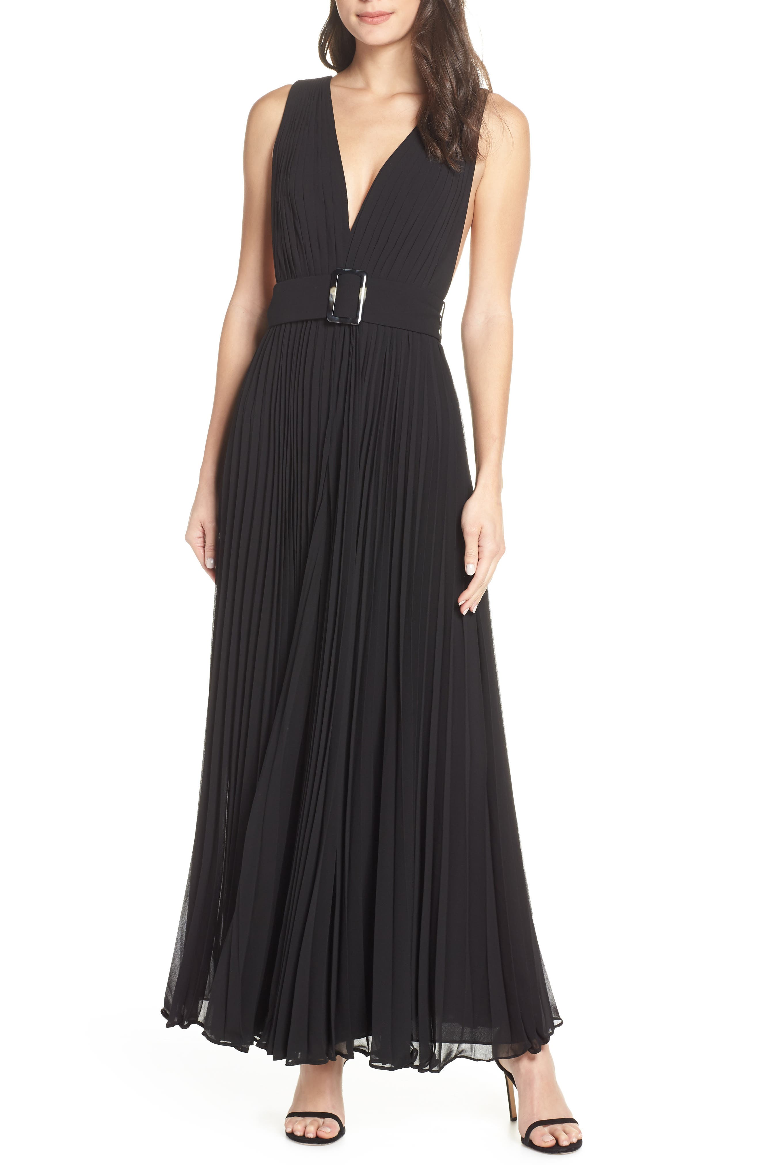 FAME AND PARTNERS The Wilcox Wide Leg Jumpsuit in Black