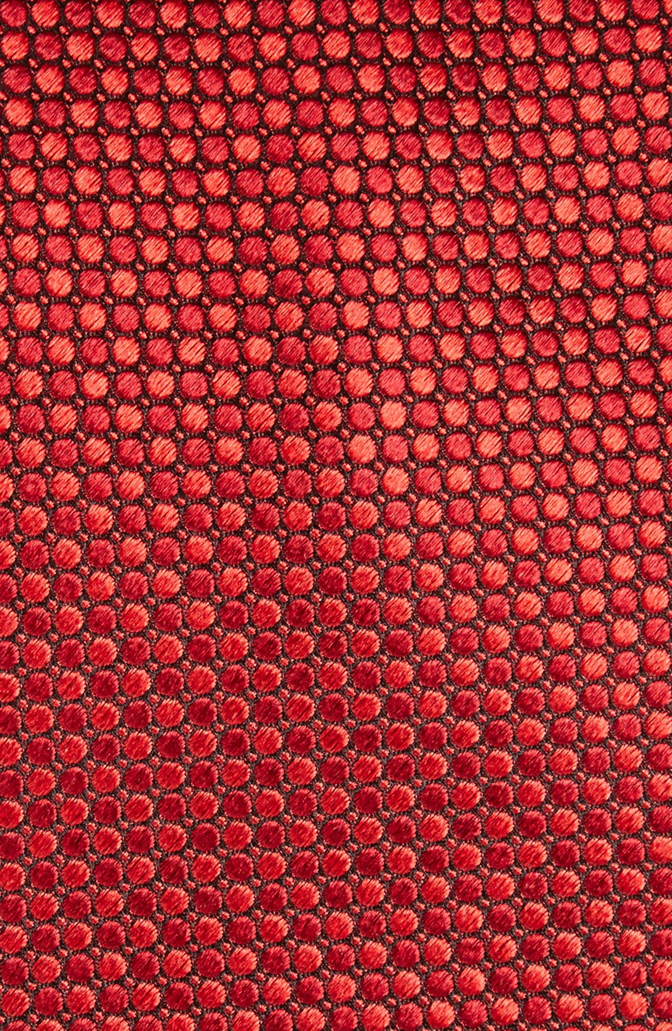 Dot Grid Silk Tie,                             Alternate thumbnail 4, color,