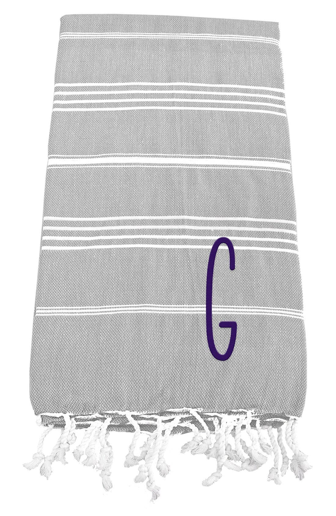 Monogram Turkish Cotton Towel,                             Main thumbnail 9, color,