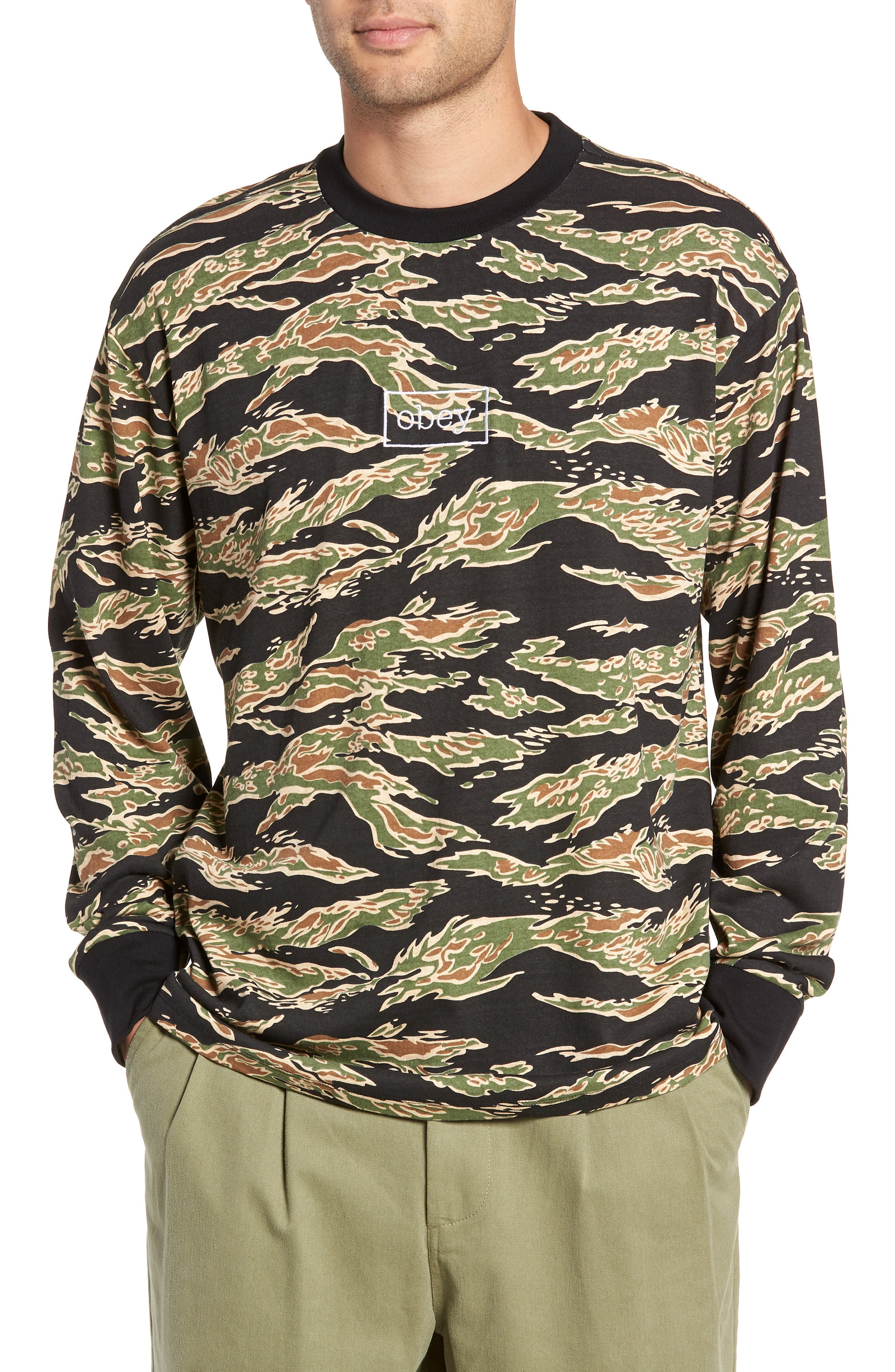 Flight Classic T-Shirt,                         Main,                         color, TIGER CAMO