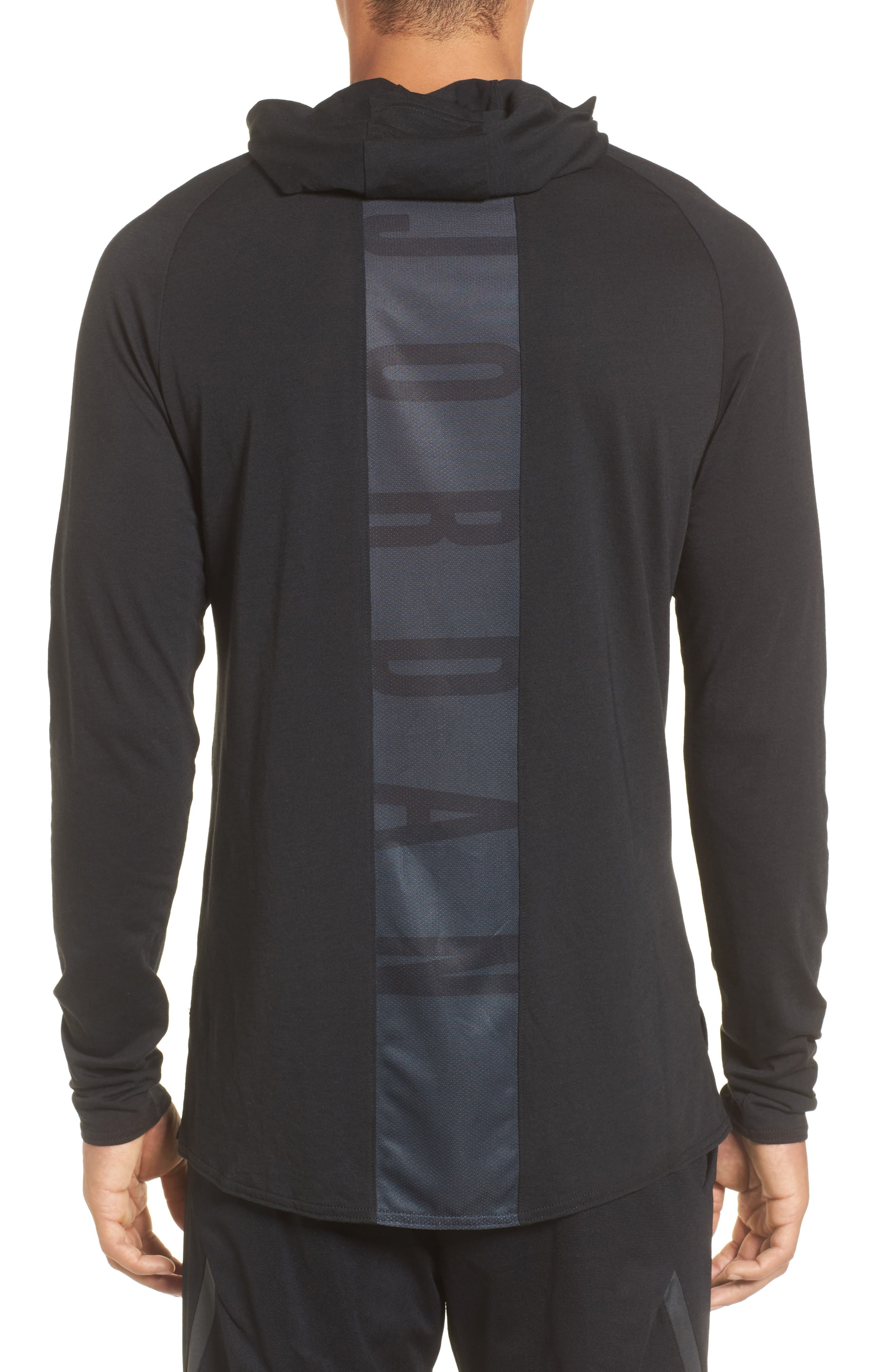 Nike Dry 23 Alpha Hooded Shirt,                             Alternate thumbnail 2, color,                             010