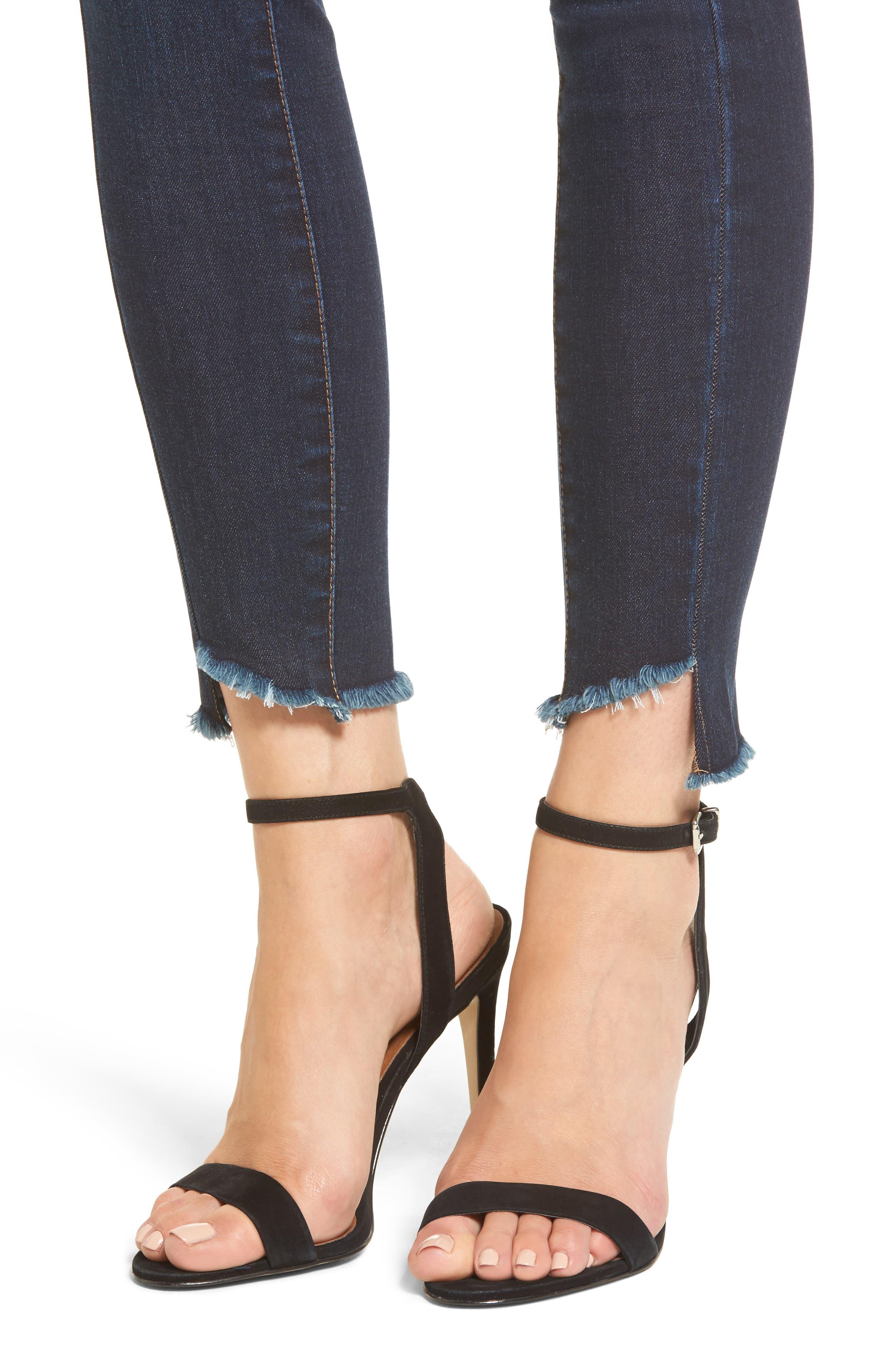 Clark High Waist Skinny Jeans,                             Alternate thumbnail 4, color,                             400