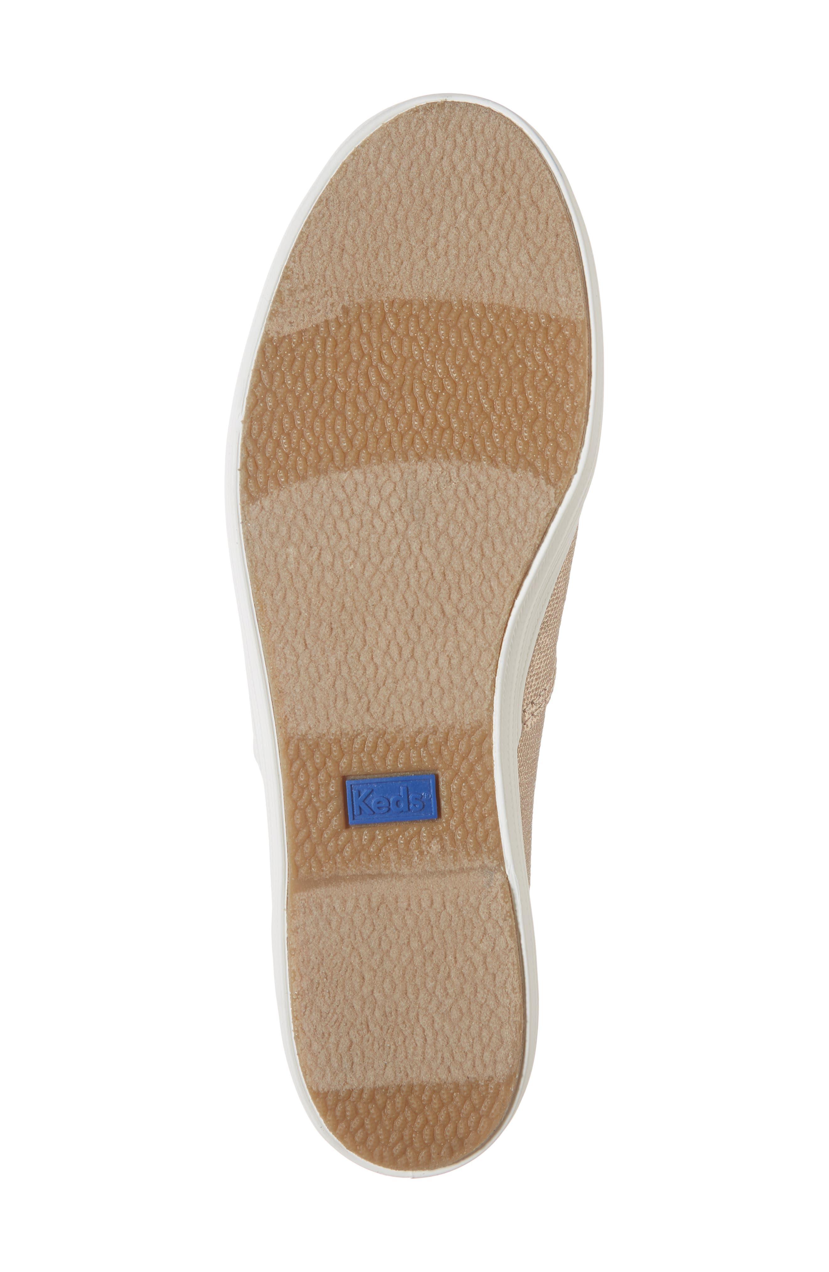 Triple Decker Brushed Metallic Platform Sneaker,                             Alternate thumbnail 6, color,                             ROSE GOLD