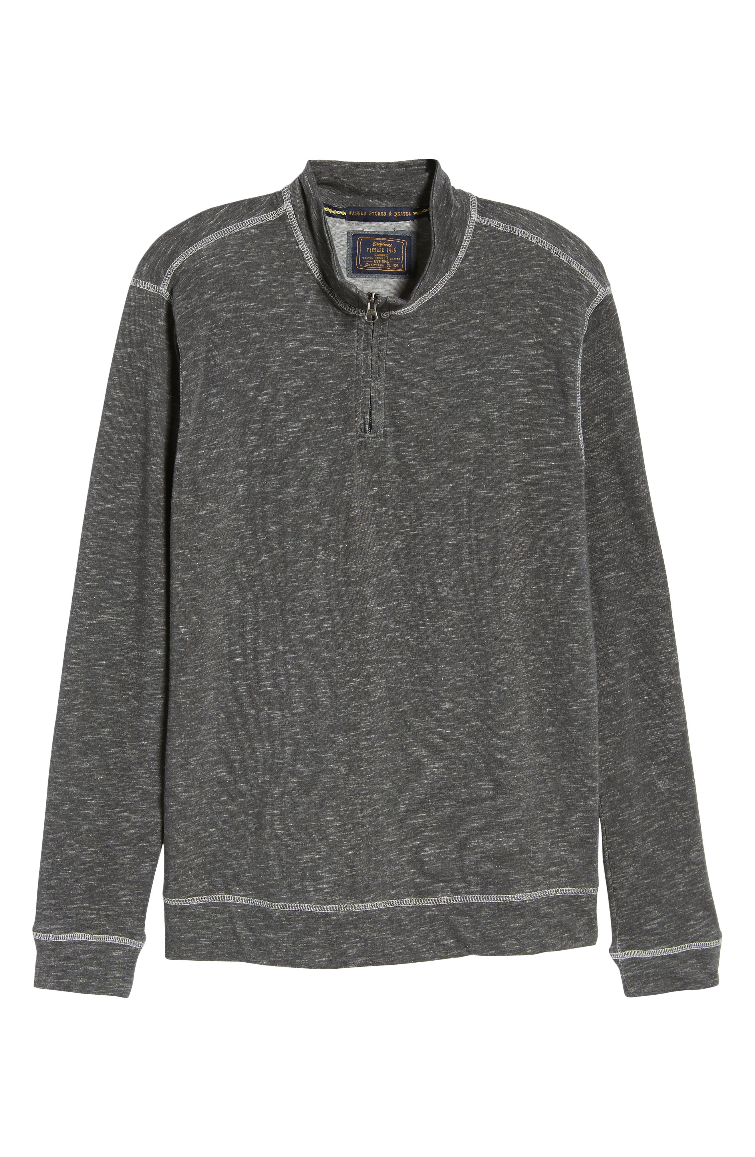 Space Dyed Quarter-Zip Shirt,                             Alternate thumbnail 6, color,                             CHARCOAL