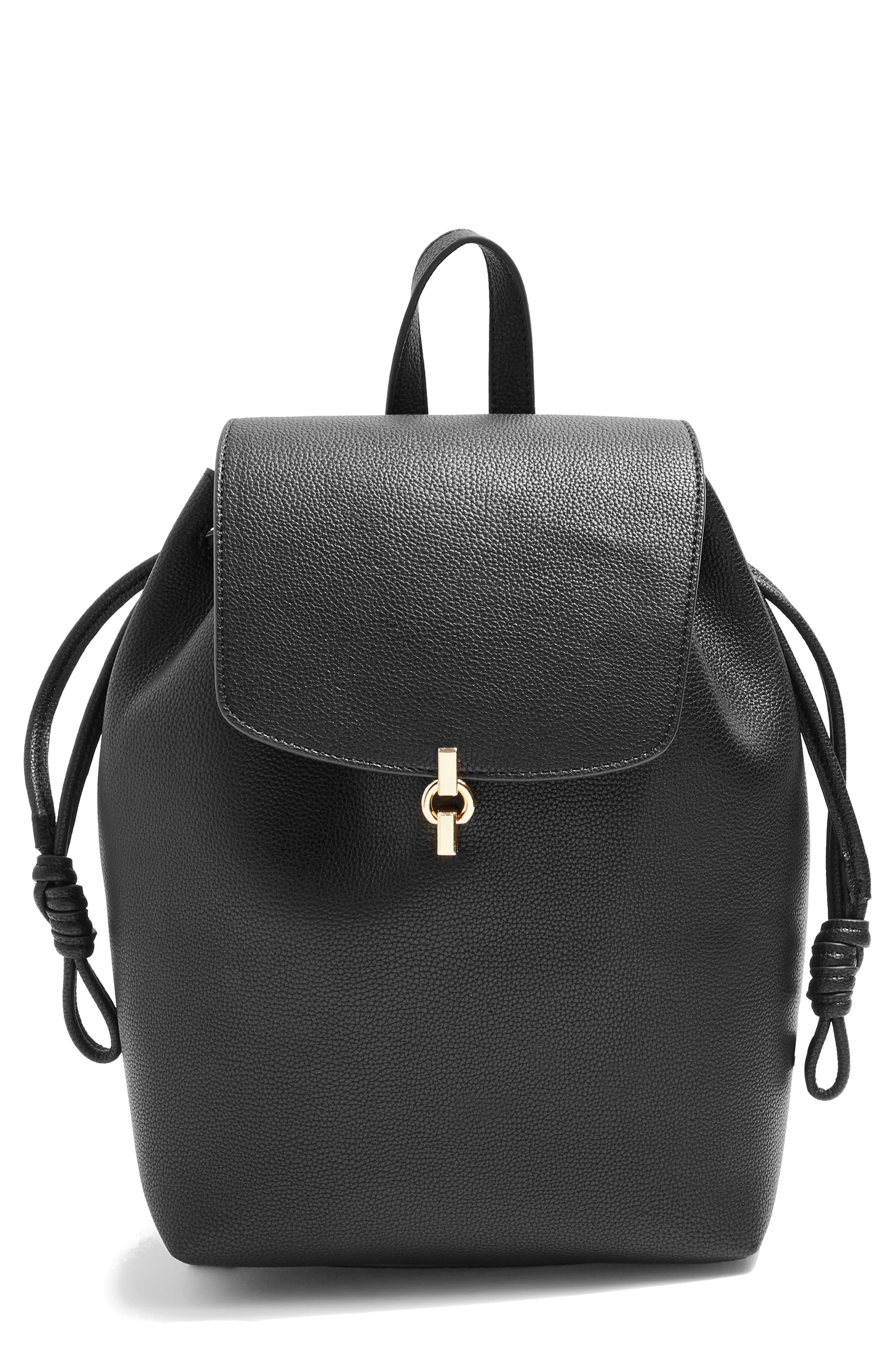 Lucy Metal Tab Backpack,                             Main thumbnail 1, color,                             001