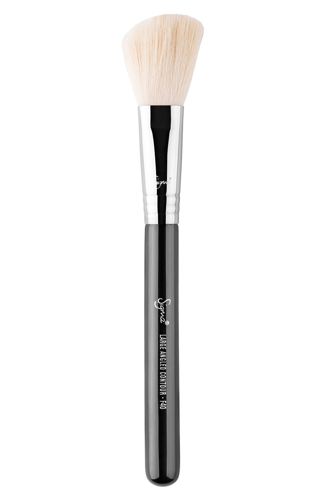 F40 Large Angled Contour Brush,                             Main thumbnail 1, color,                             NO COLOR