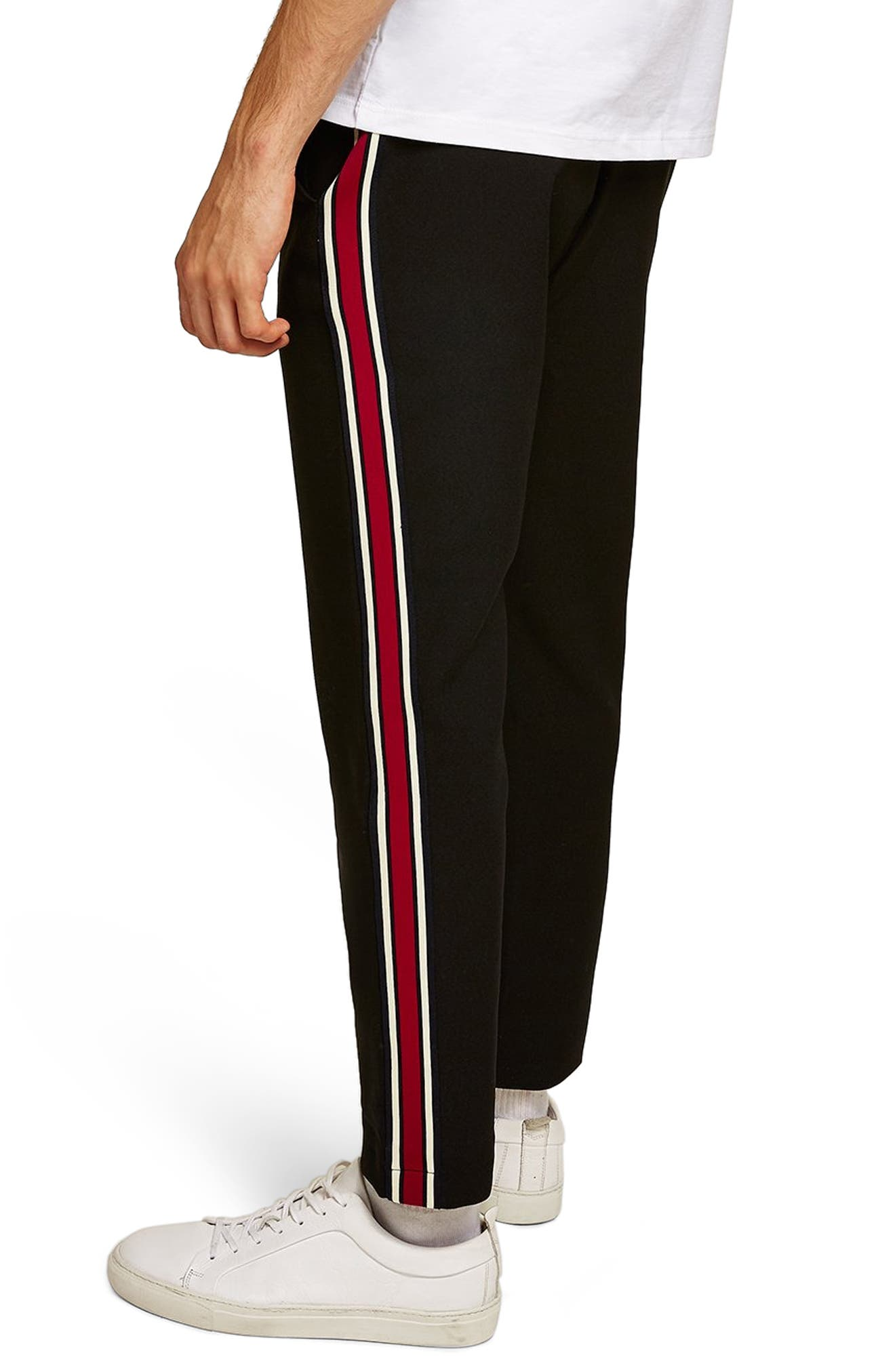 Side Stripe Skinny Fit Joggers,                             Alternate thumbnail 2, color,                             001