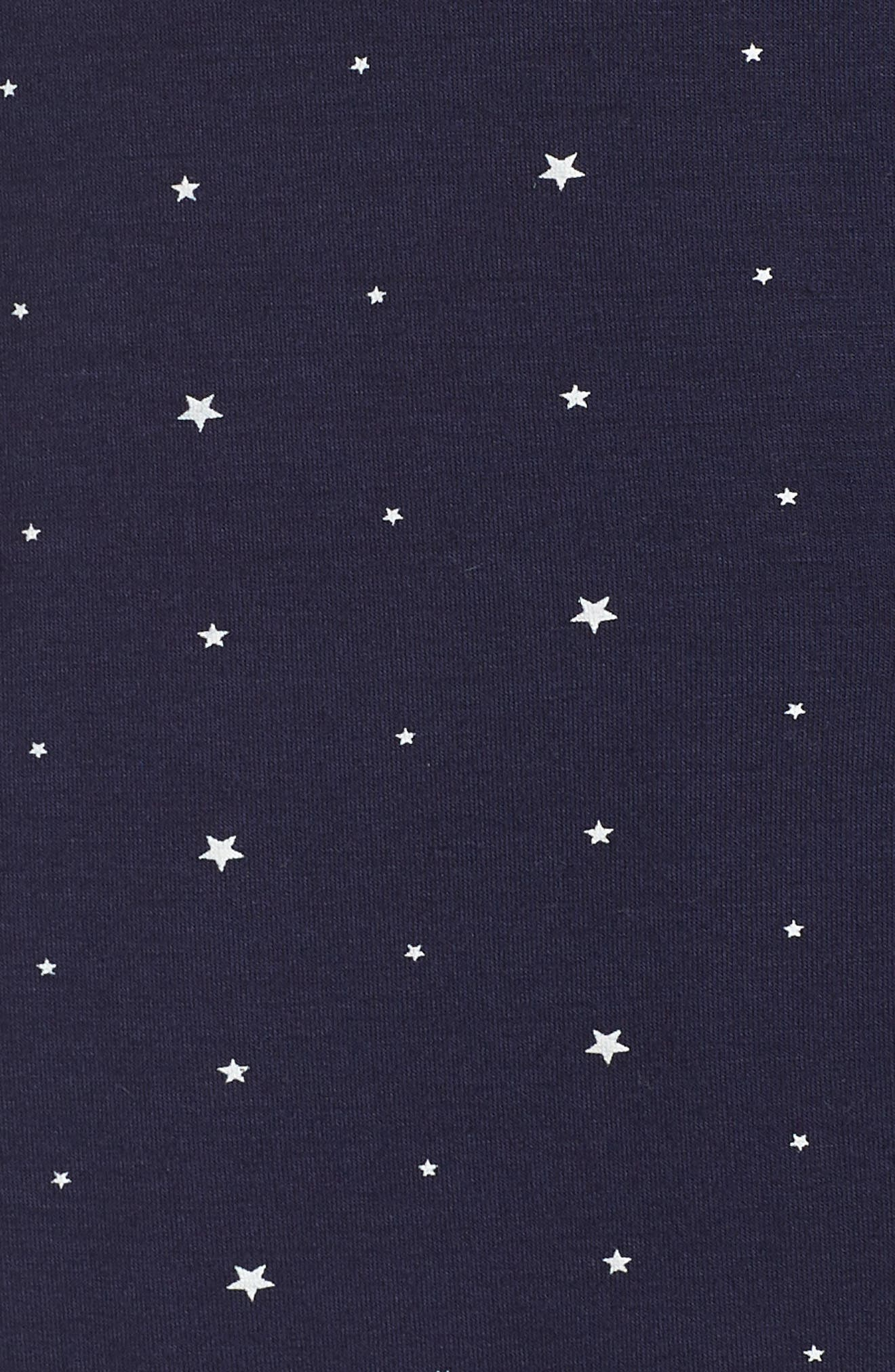 Sleep Chic Pajamas,                             Alternate thumbnail 5, color,                             NORTHER STARS/ IVORY