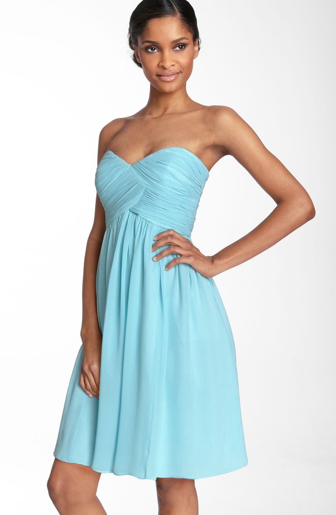 'Morgan' Strapless Silk Chiffon Dress,                             Alternate thumbnail 132, color,