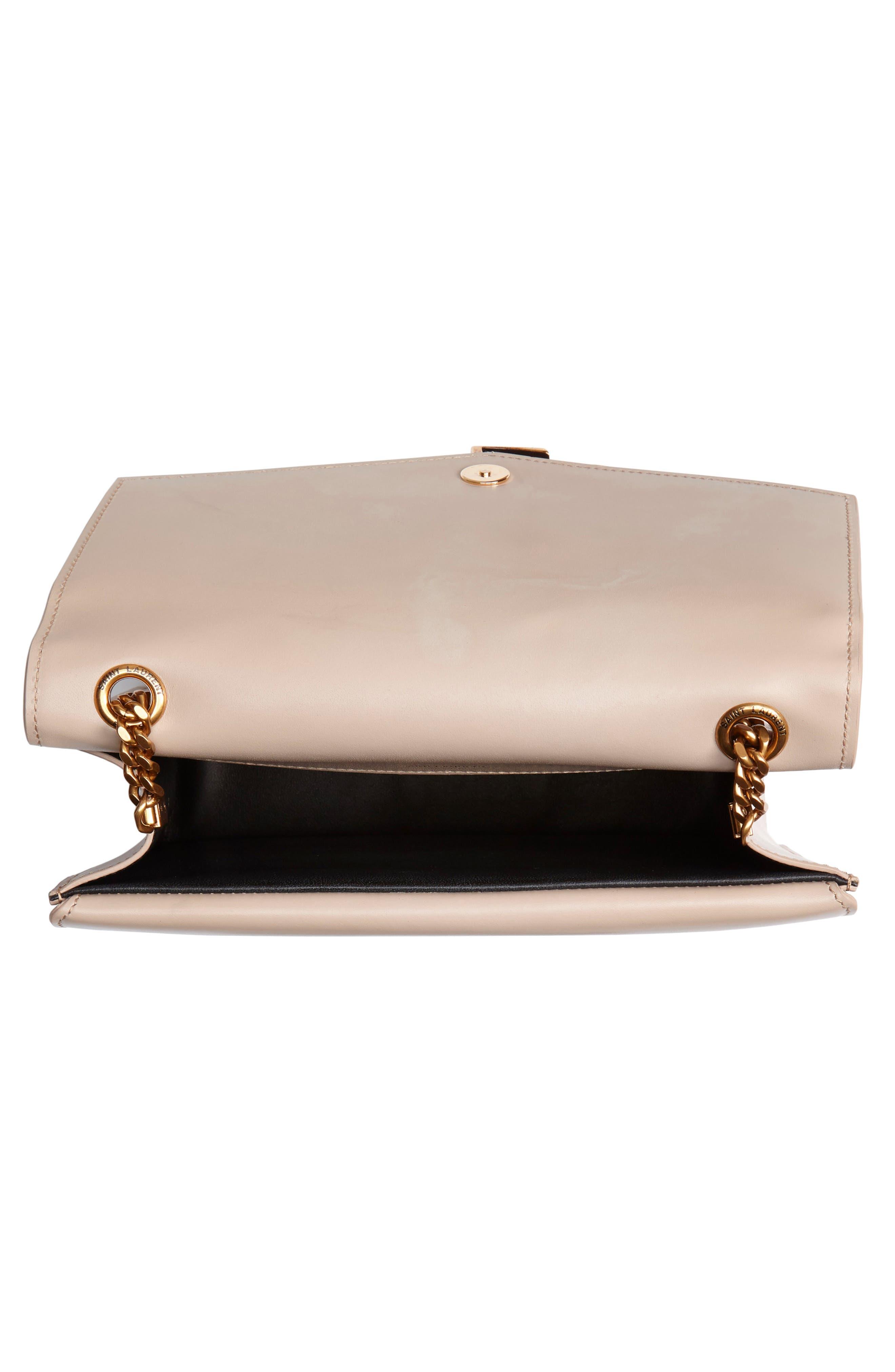 Sulpice Leather Shoulder Bag,                             Alternate thumbnail 4, color,                             LIGHT NATURAL