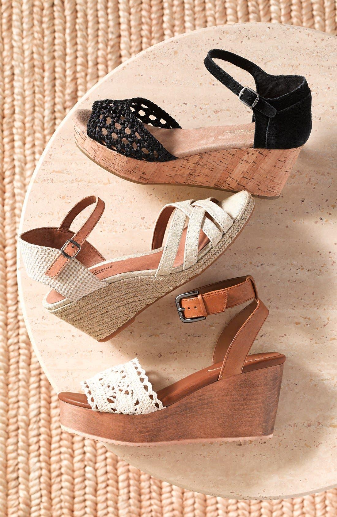 'Kalessie' Espadrille Wedge Sandal,                             Alternate thumbnail 5, color,                             001