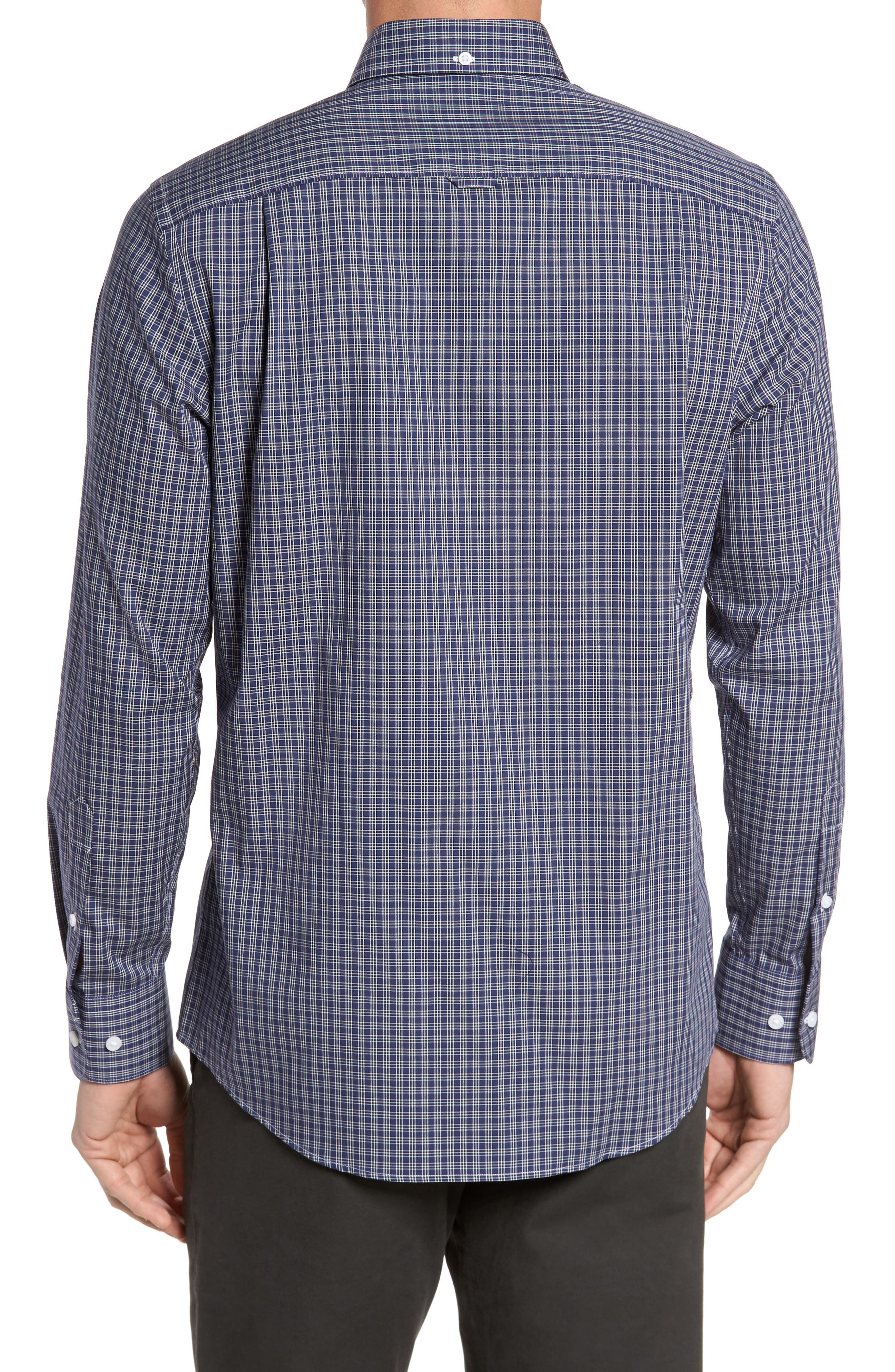 Regular Fit Non-Iron Mini Check Sport Shirt,                             Alternate thumbnail 2, color,                             410