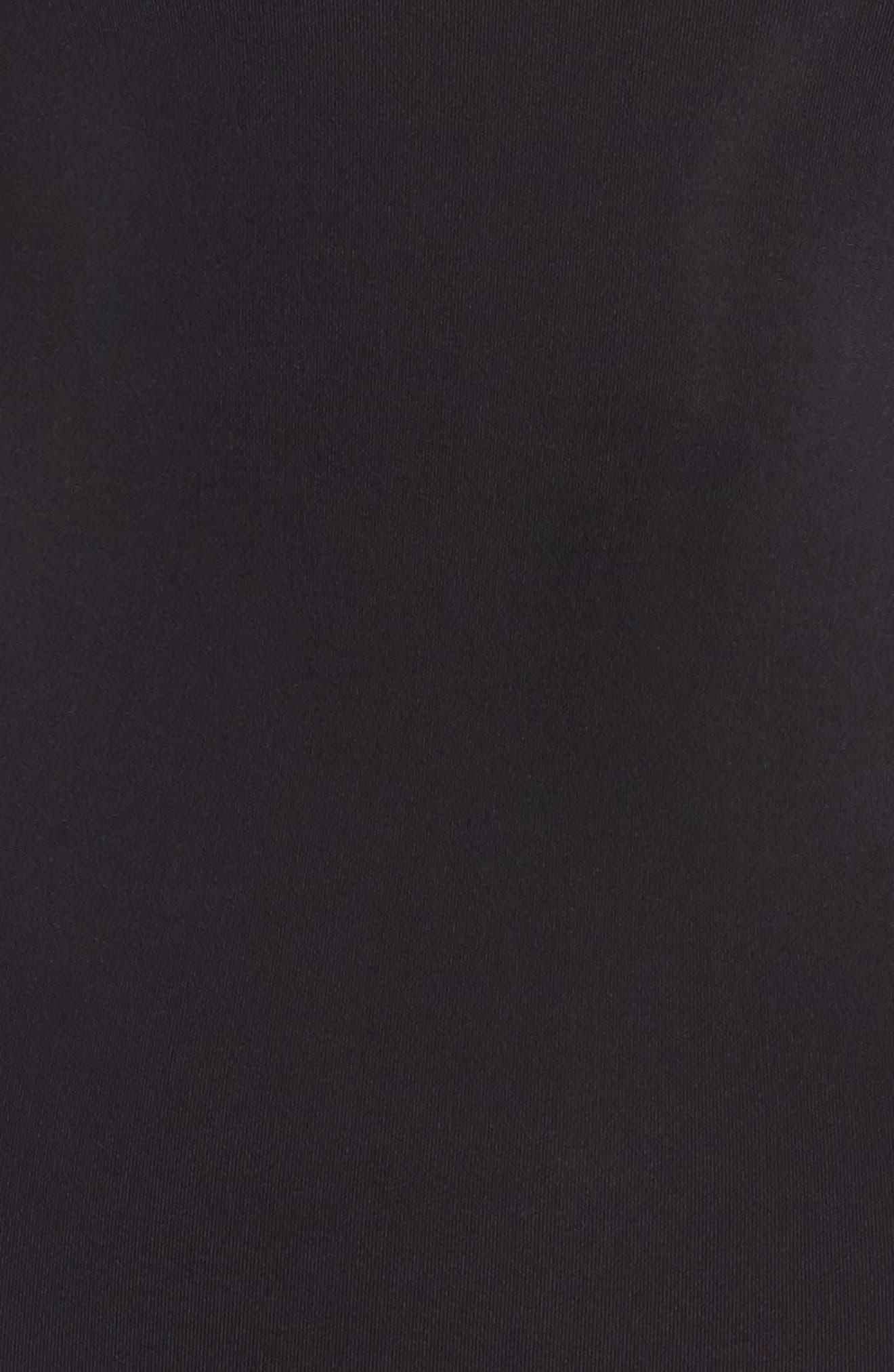 Opaque Bodysuit,                             Alternate thumbnail 5, color,                             BLACK