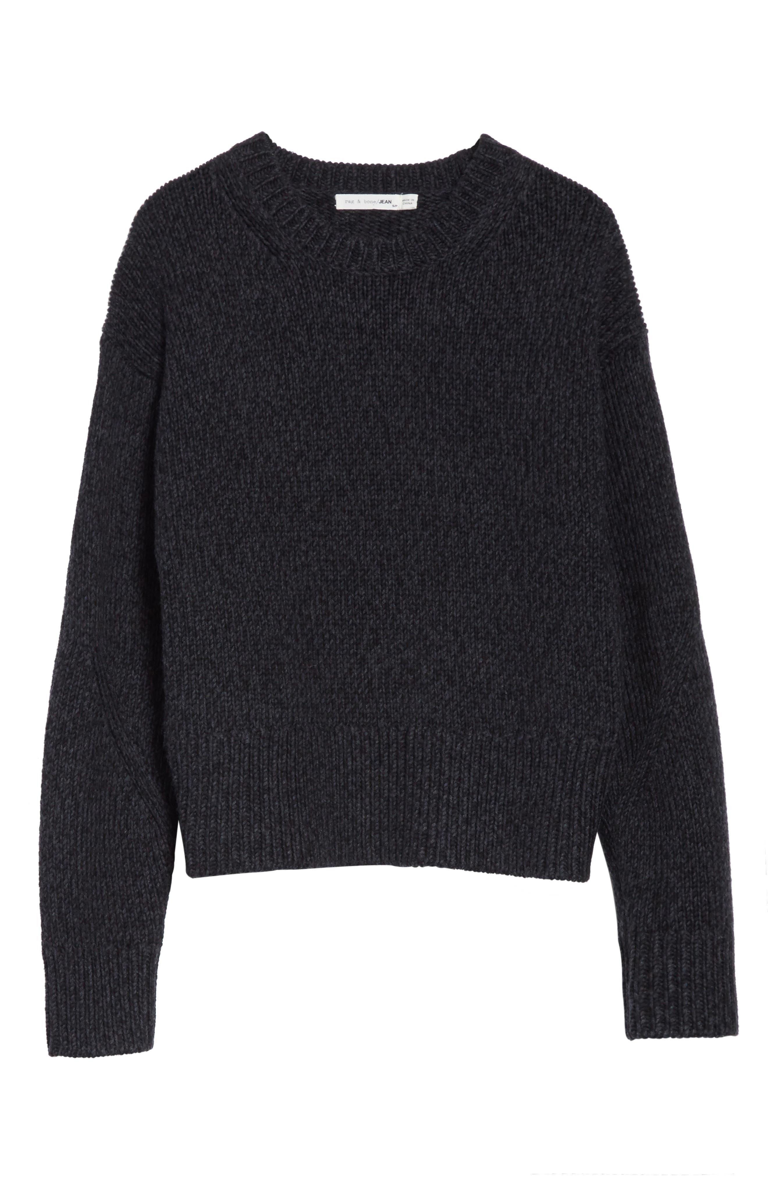 Sheila Crewneck Sweater,                             Alternate thumbnail 6, color,                             020