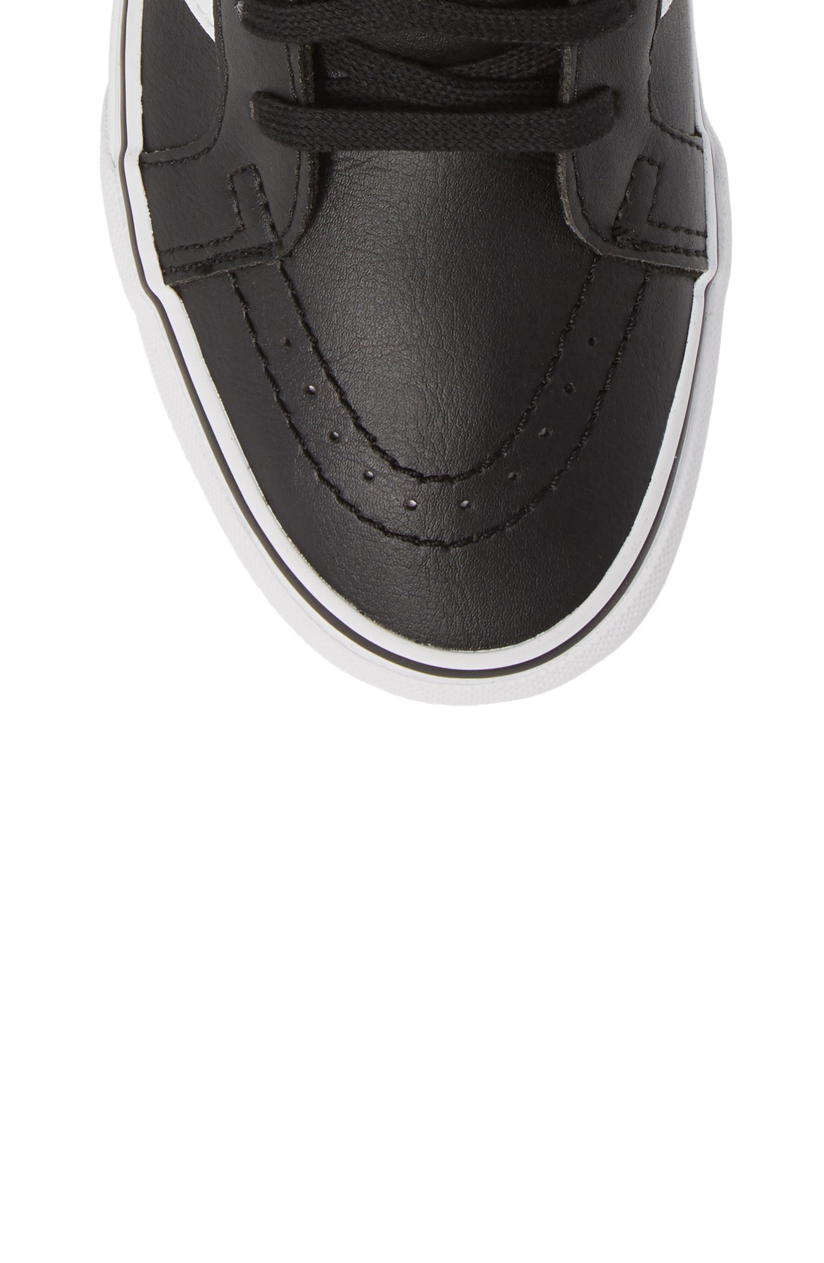 VANS,                             'Sk8-Hi Reissue' Sneaker,                             Alternate thumbnail 5, color,                             BLACK/ TRUE WHITE