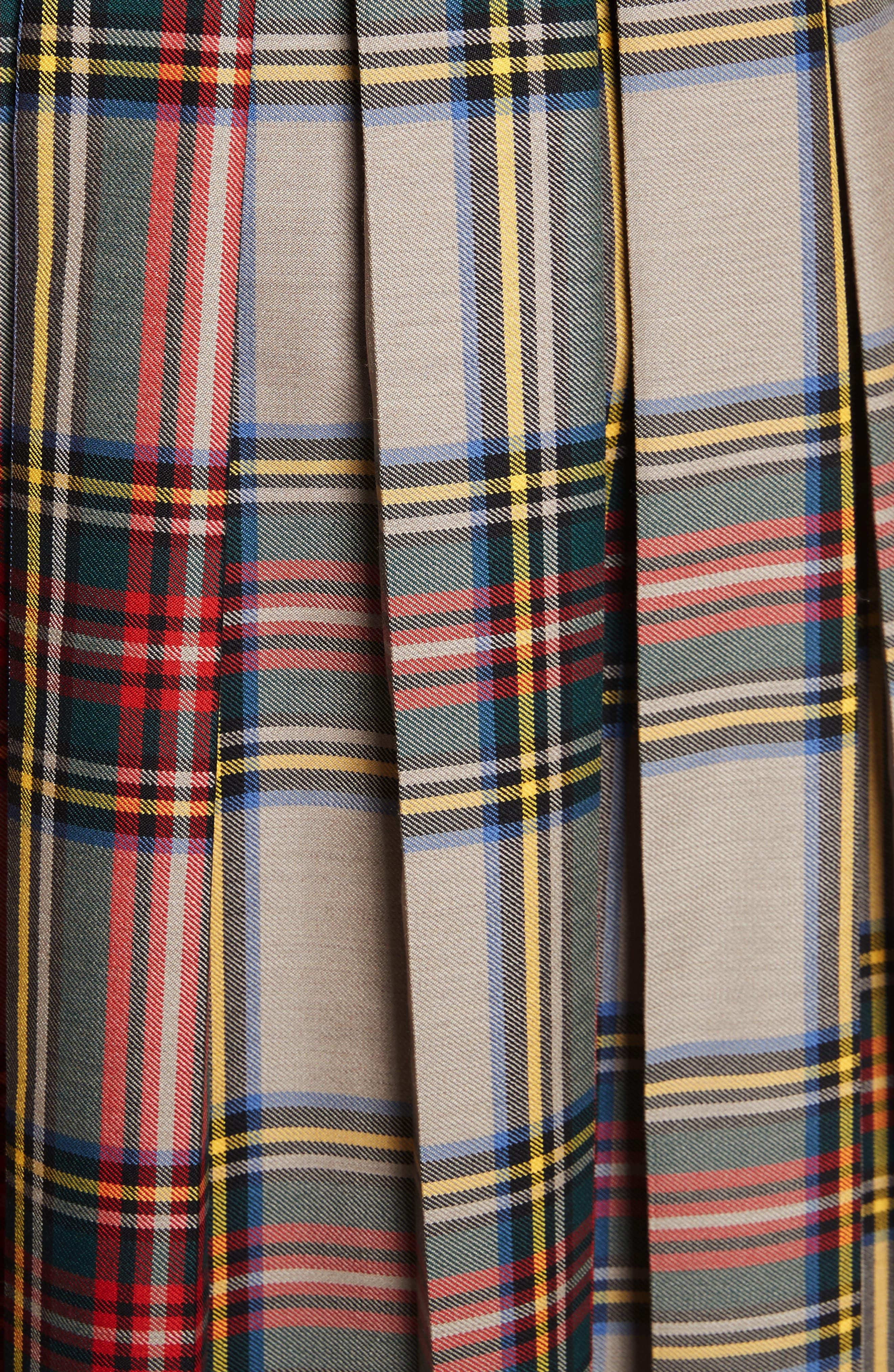 Pleated Technical Gabardine Skirt,                             Alternate thumbnail 5, color,                             250