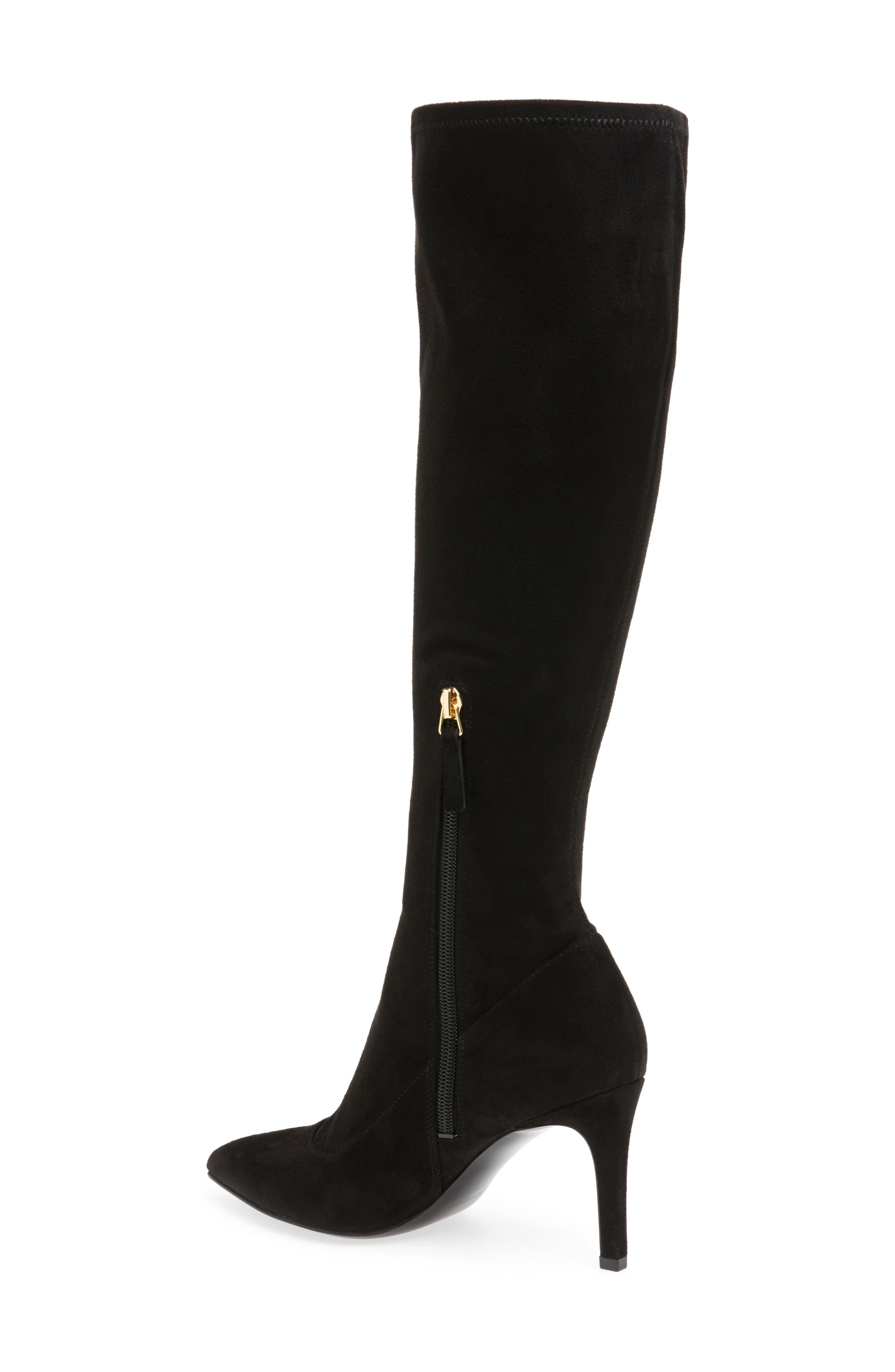 Carrara Knee High Pointy Toe Boot,                             Alternate thumbnail 3, color,