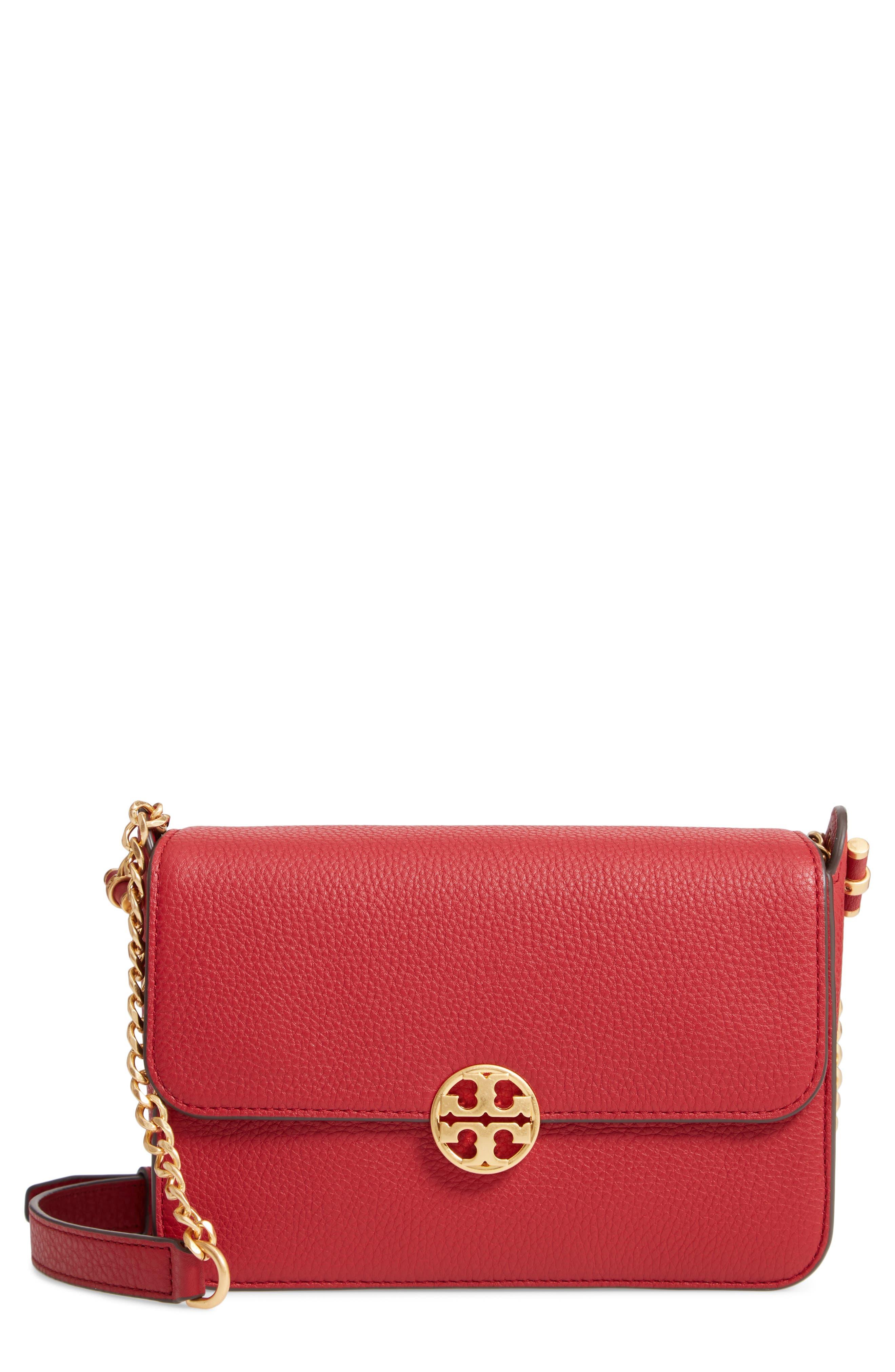 Chelsea Leather Crossbody Bag,                             Main thumbnail 1, color,                             REDSTONE
