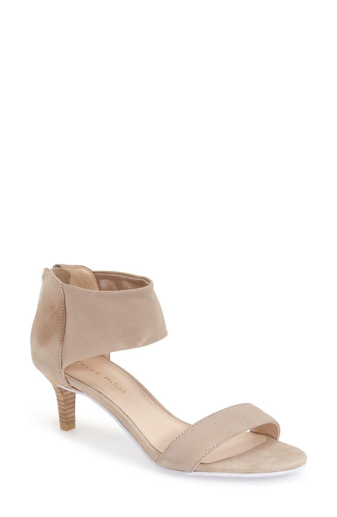 'Eden' Mesh Strap Sandal,                         Main,                         color, BARLEY