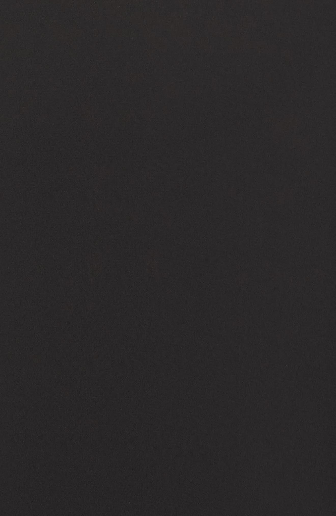 Placket Front Blouse,                             Alternate thumbnail 5, color,                             BLACK