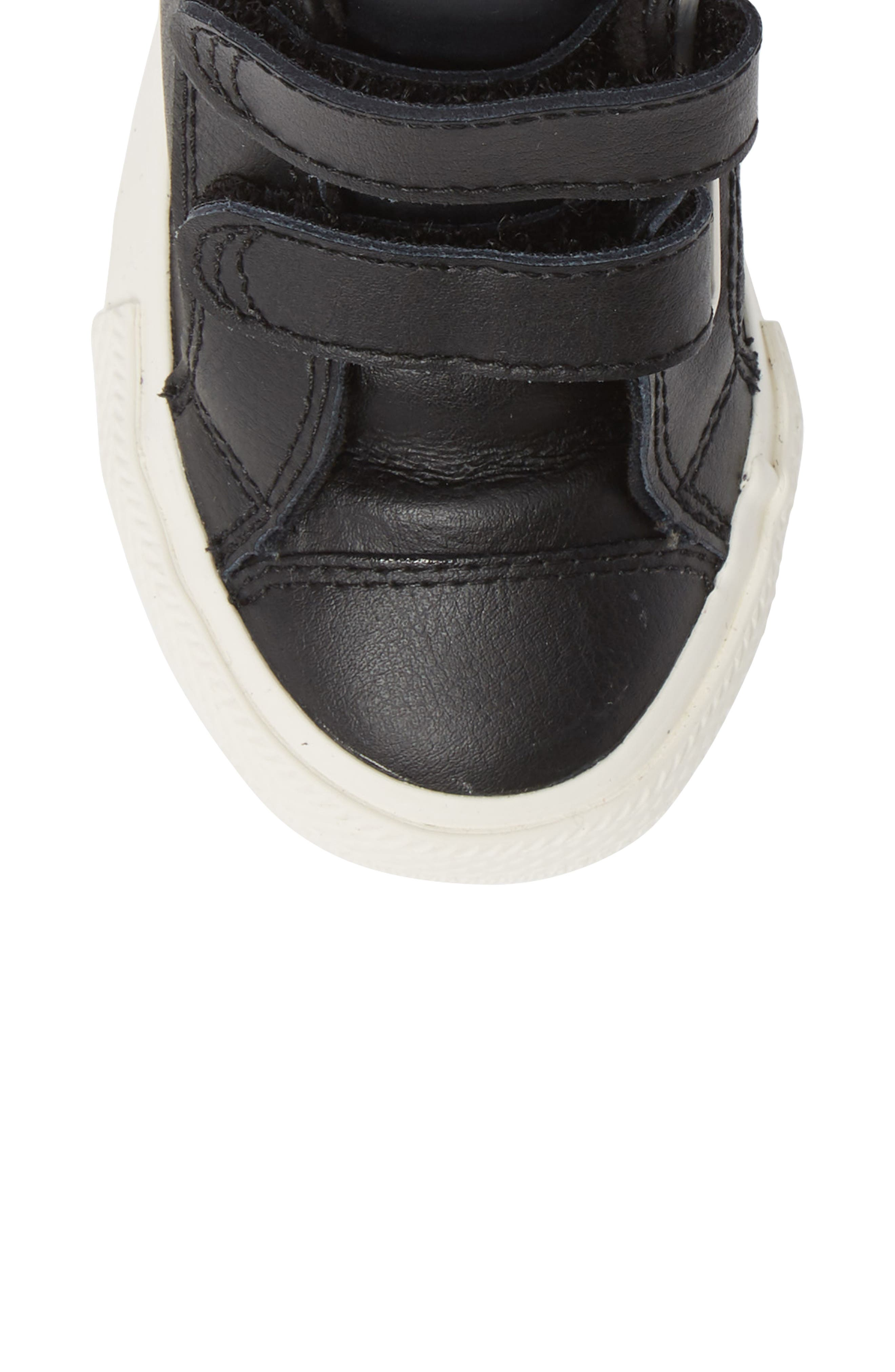 Chuck Taylor<sup>®</sup> All Star<sup>®</sup> 2V Leather High TopSneaker,                             Alternate thumbnail 5, color,                             BLACK