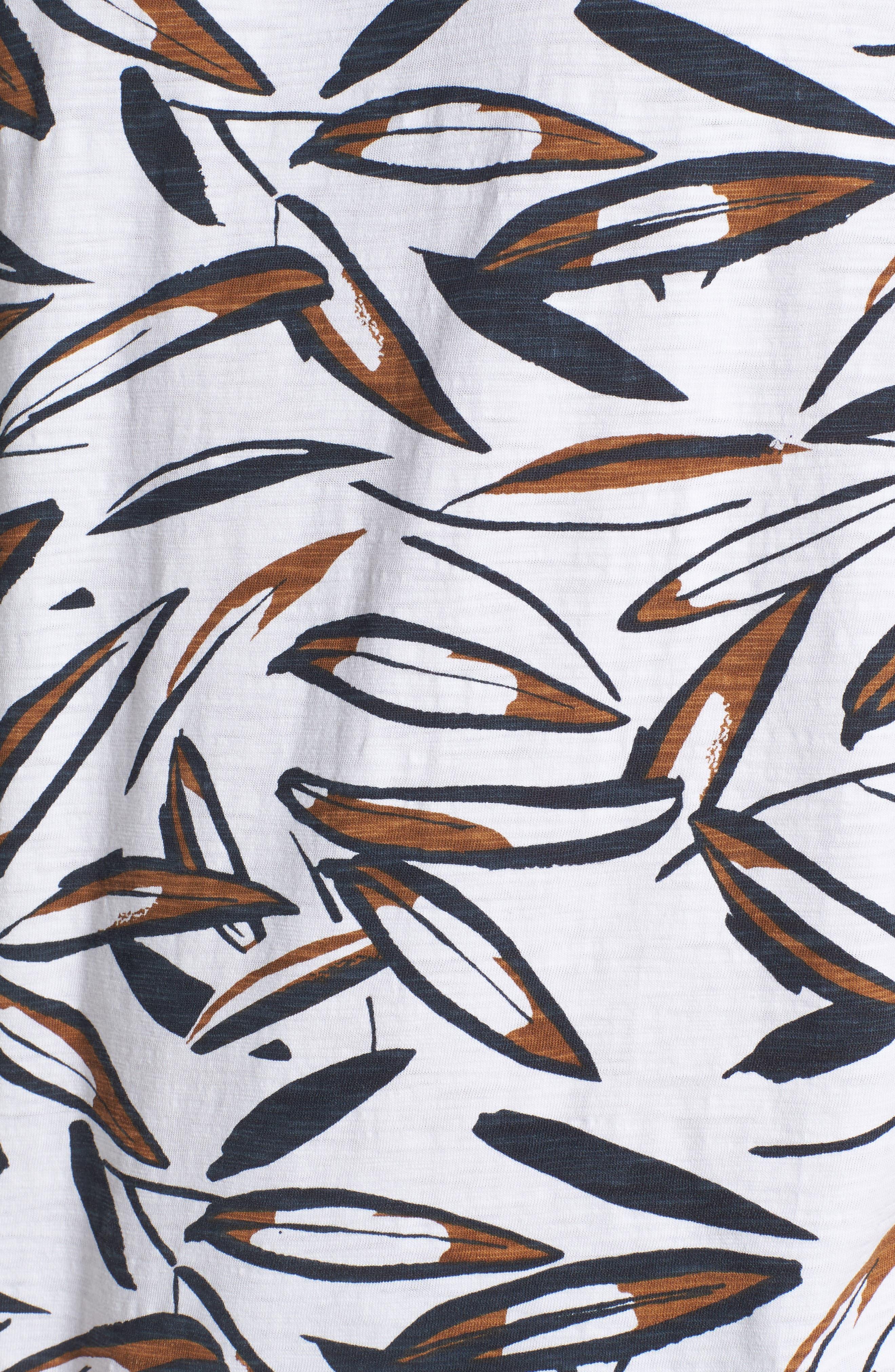 Leafy Arbour Slim Fit Heavyweight T-Shirt,                             Alternate thumbnail 5, color,                             100